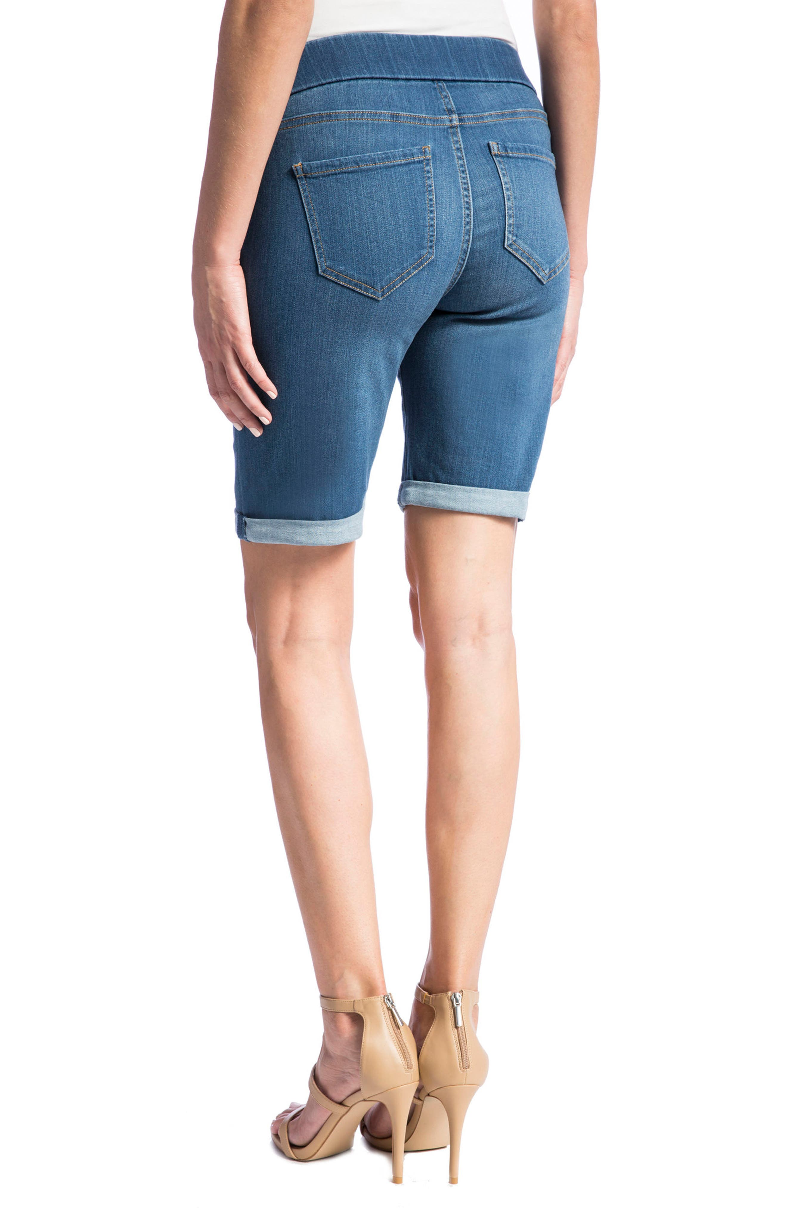 Sienna Pull-On Denim Bermuda Shorts,                             Alternate thumbnail 3, color,                             Coronado Mid