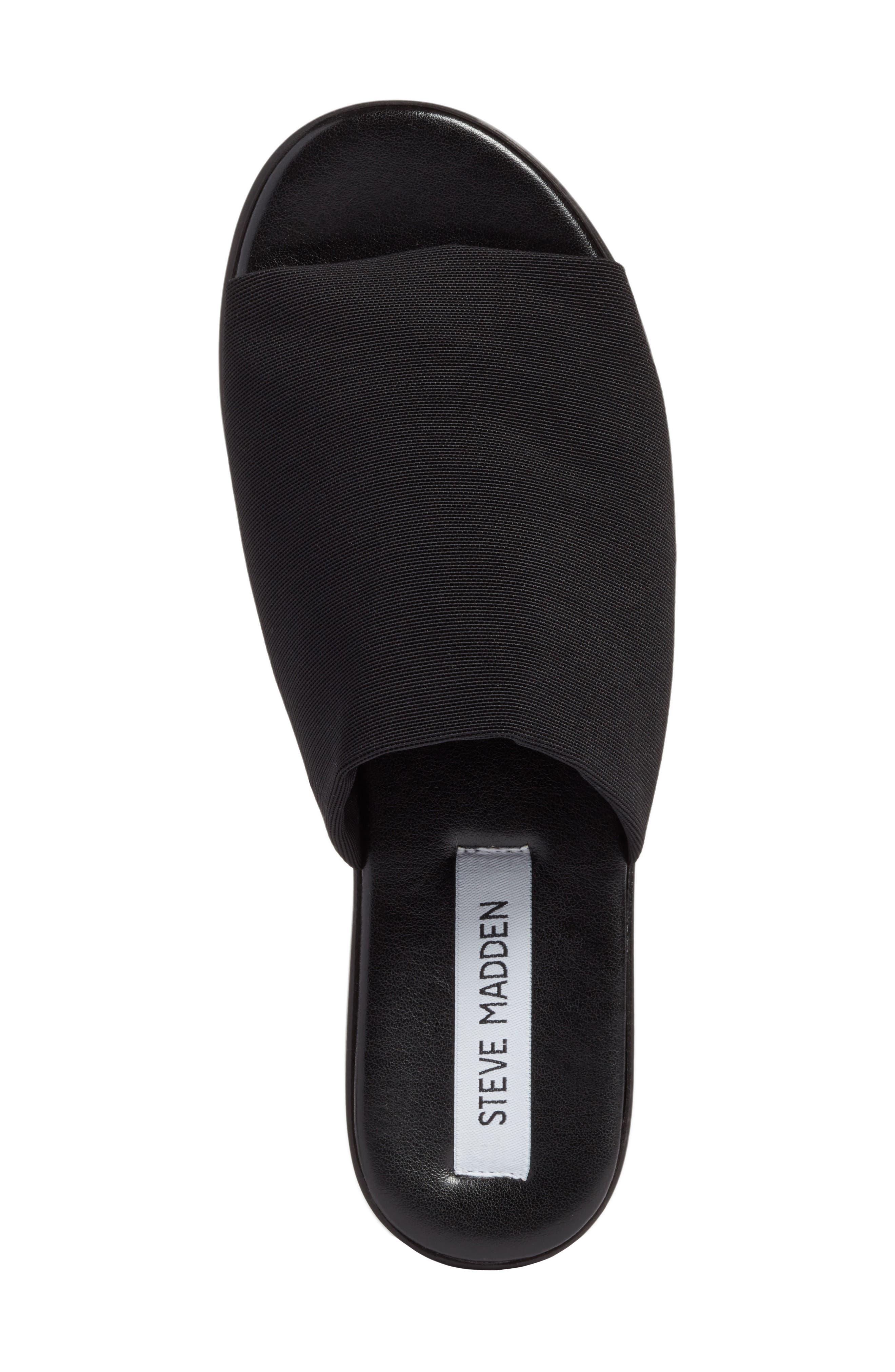 Slinky Platform Sandal,                             Alternate thumbnail 5, color,                             Black