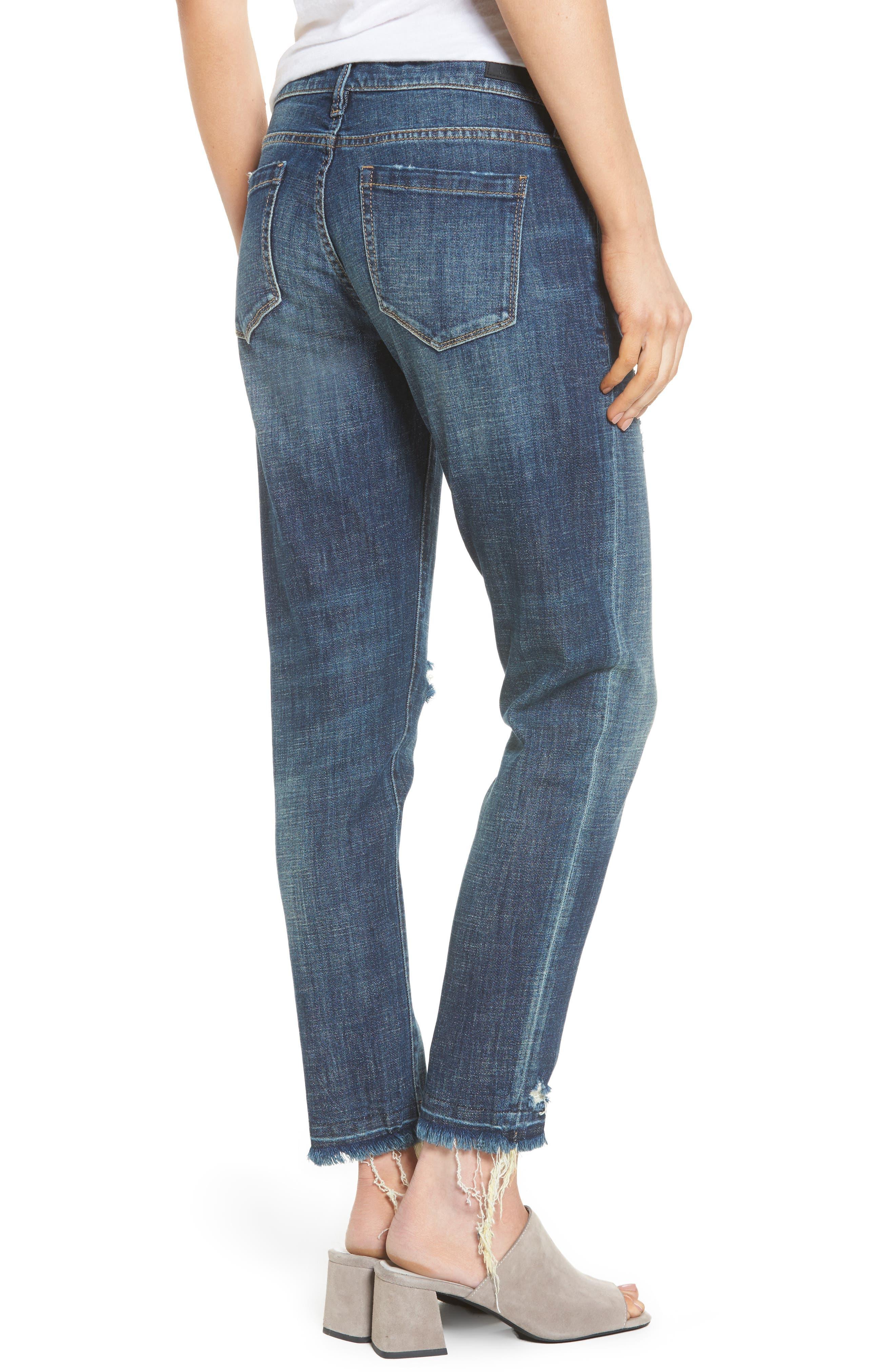 Alternate Image 2  - BLANKNYC Ripped Girlfriend Jeans (Let It Roll)