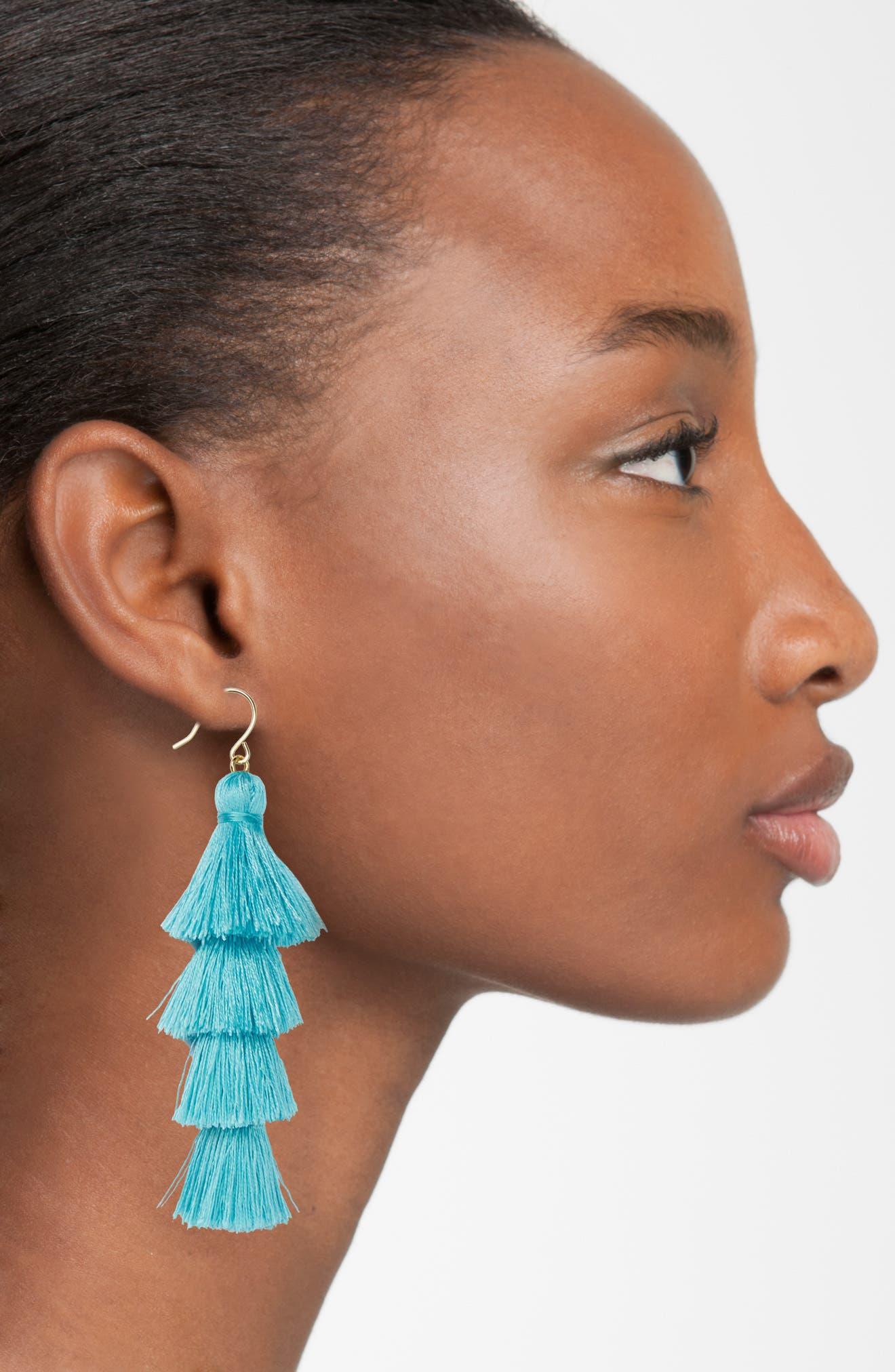 Alternate Image 2  - BaubleBar Gabriela Fringe Earrings