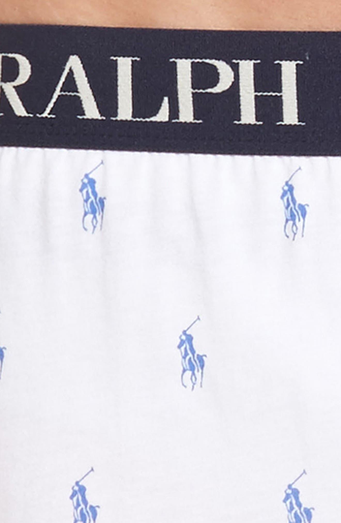 Slim Fit Knit Cotton & Modal Boxers,                             Alternate thumbnail 4, color,                             White
