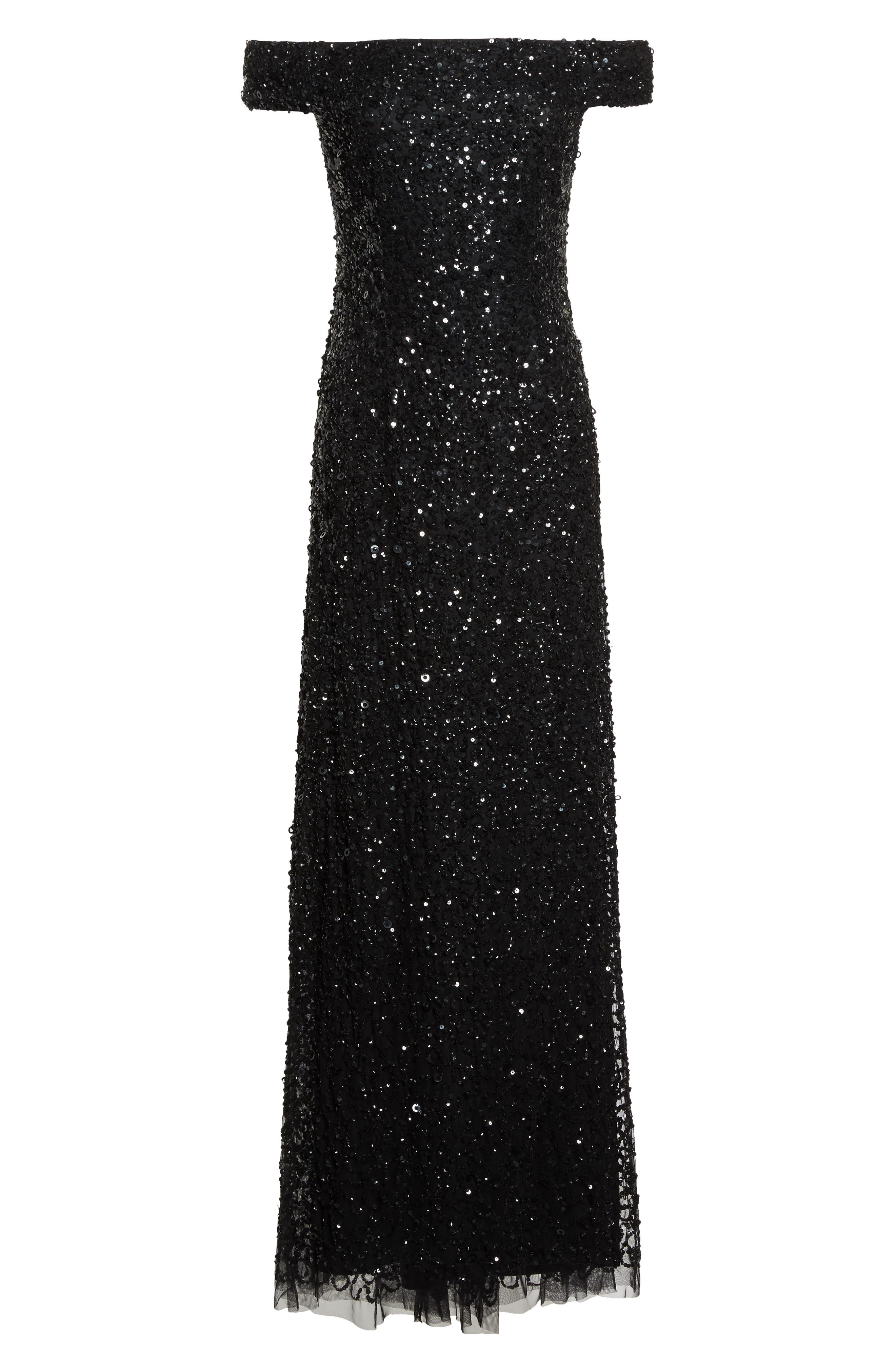 Alternate Image 6  - Adrianna Papell Sequin Mesh Gown