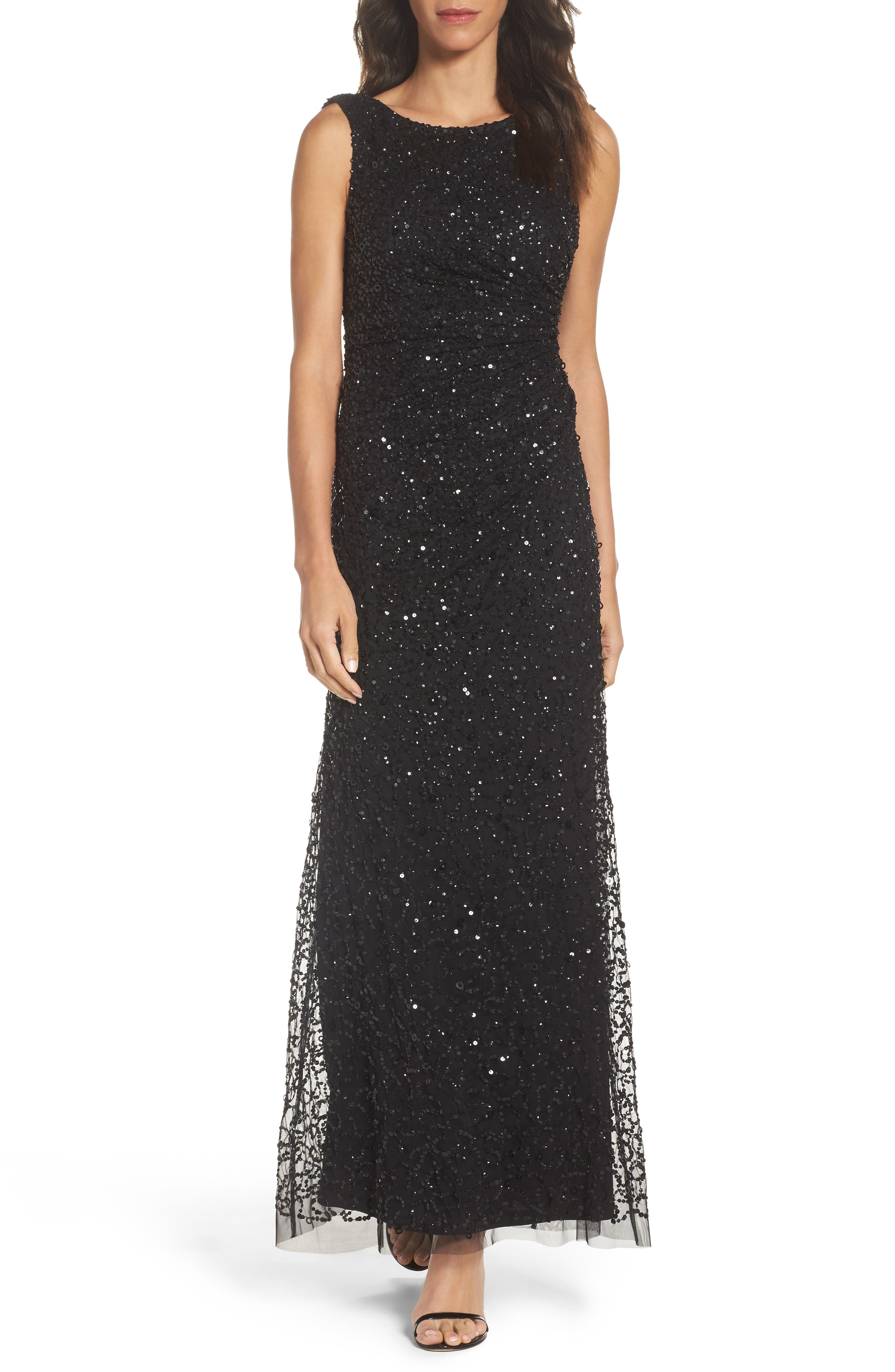 Alternate Image 1 Selected - Adrianna Papell Drape Back Gown