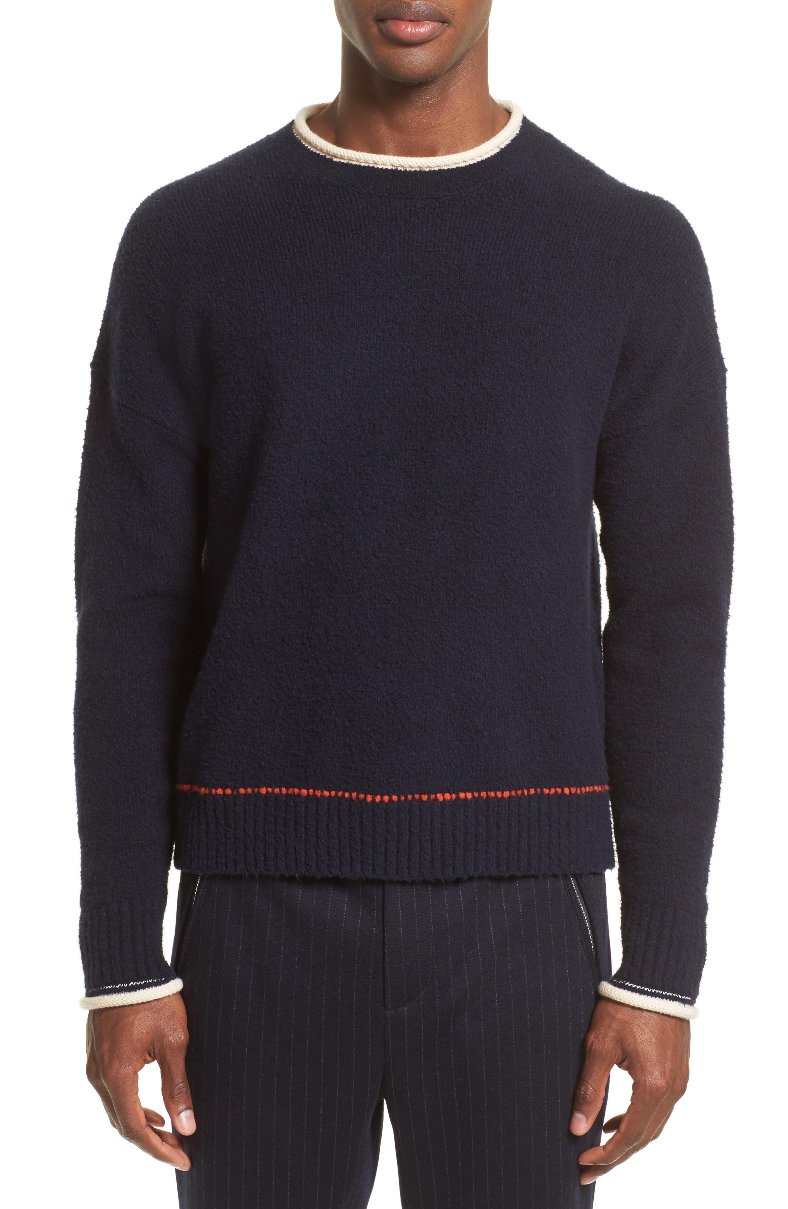 Plaited Sweater,                             Main thumbnail 1, color,                             Dark Navy