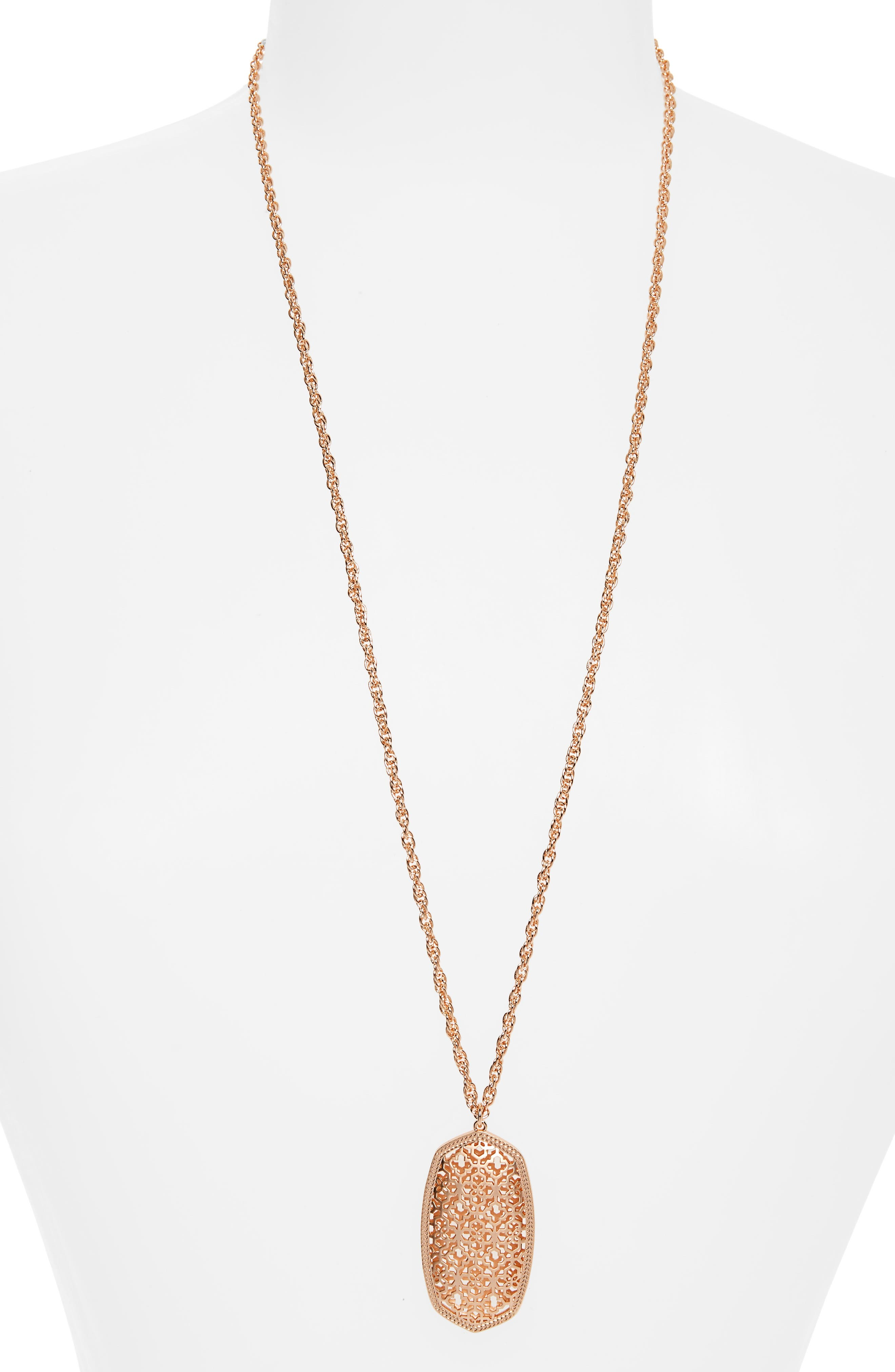 Kendra Scott Rae Long Filigree Pendant Necklace