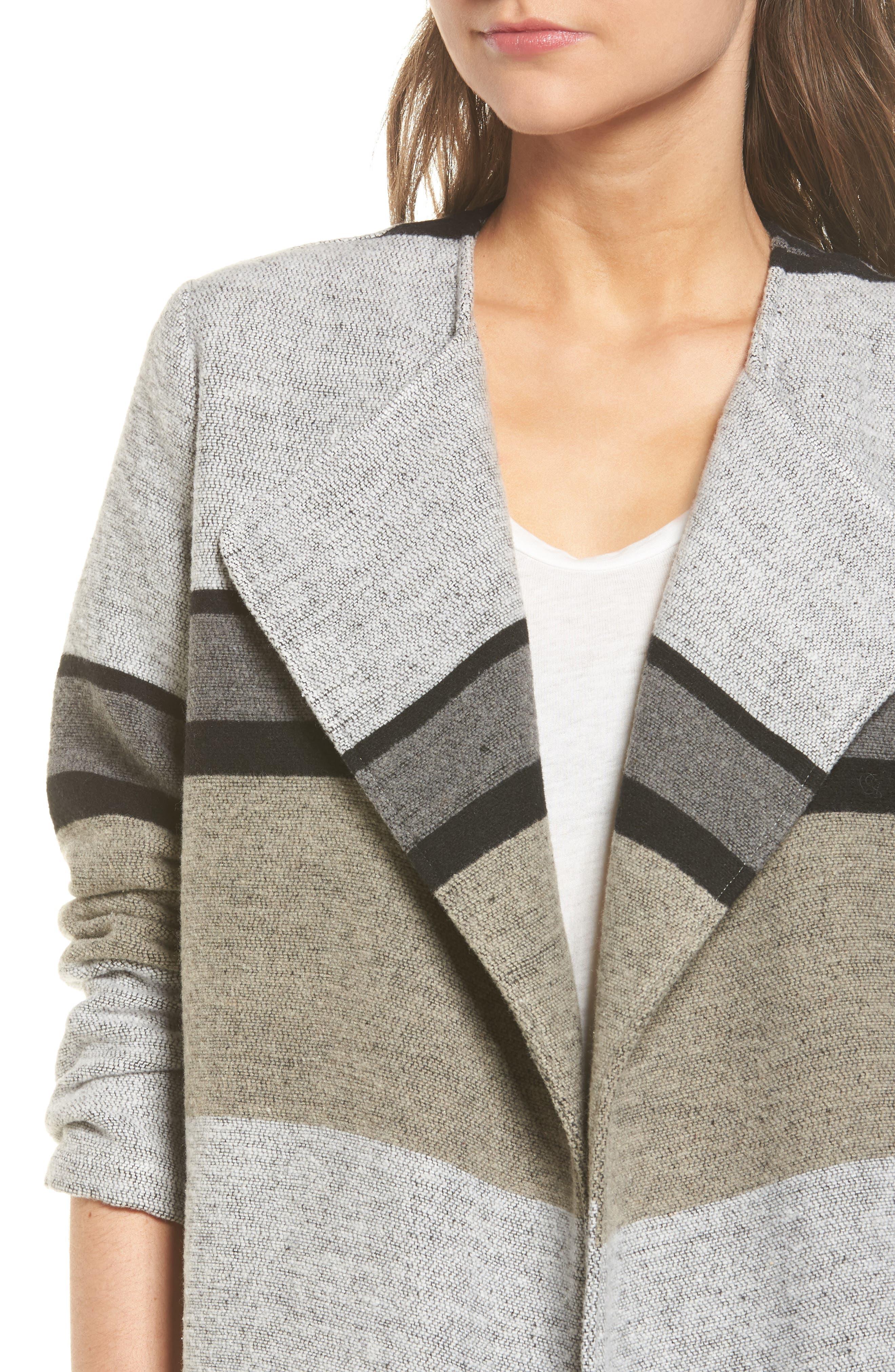 Allesa Stripe Jacket,                             Alternate thumbnail 4, color,                             Oatmeal