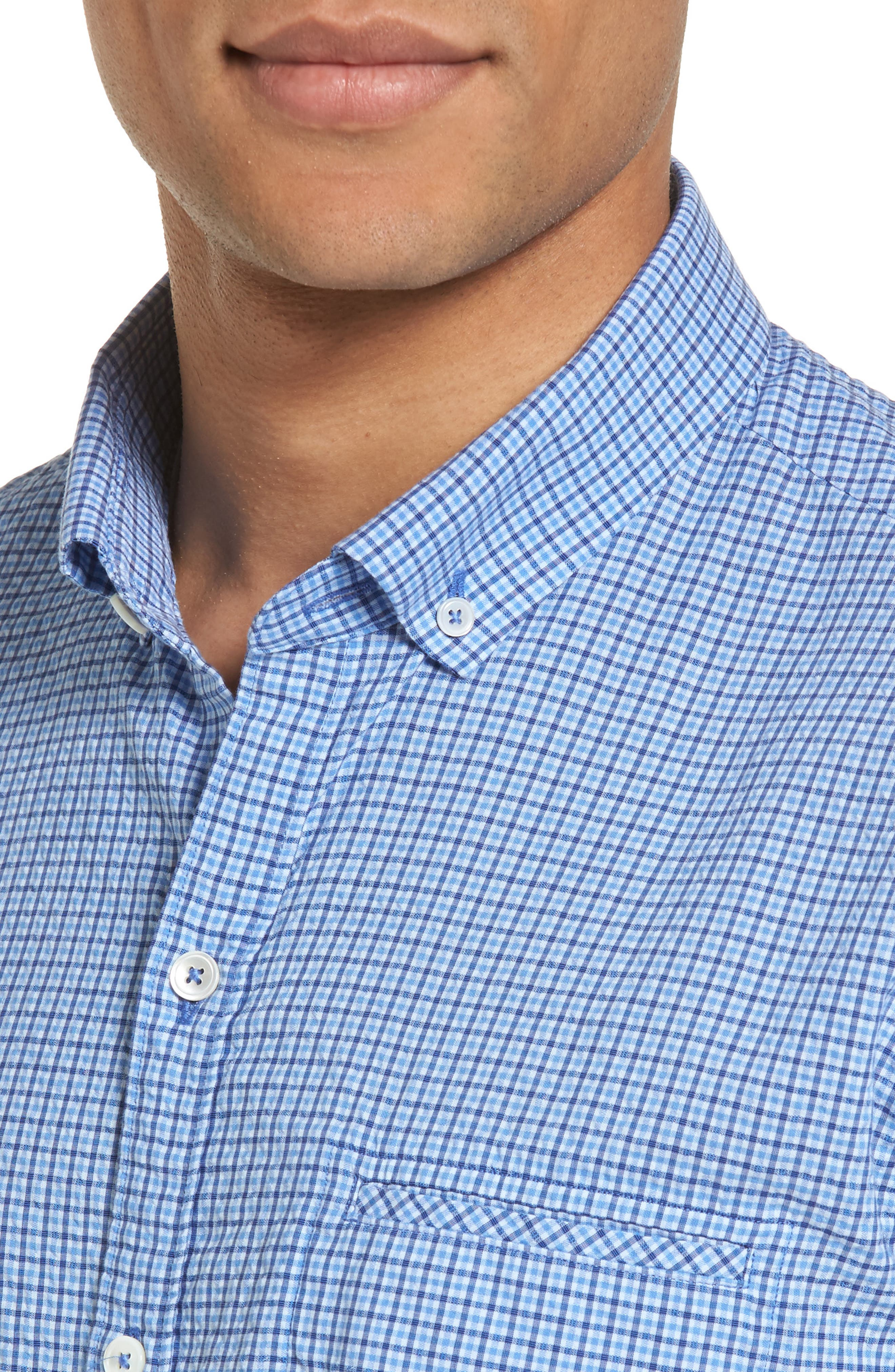 Short Sleeve Sport Shirt,                             Alternate thumbnail 4, color,                             Teal