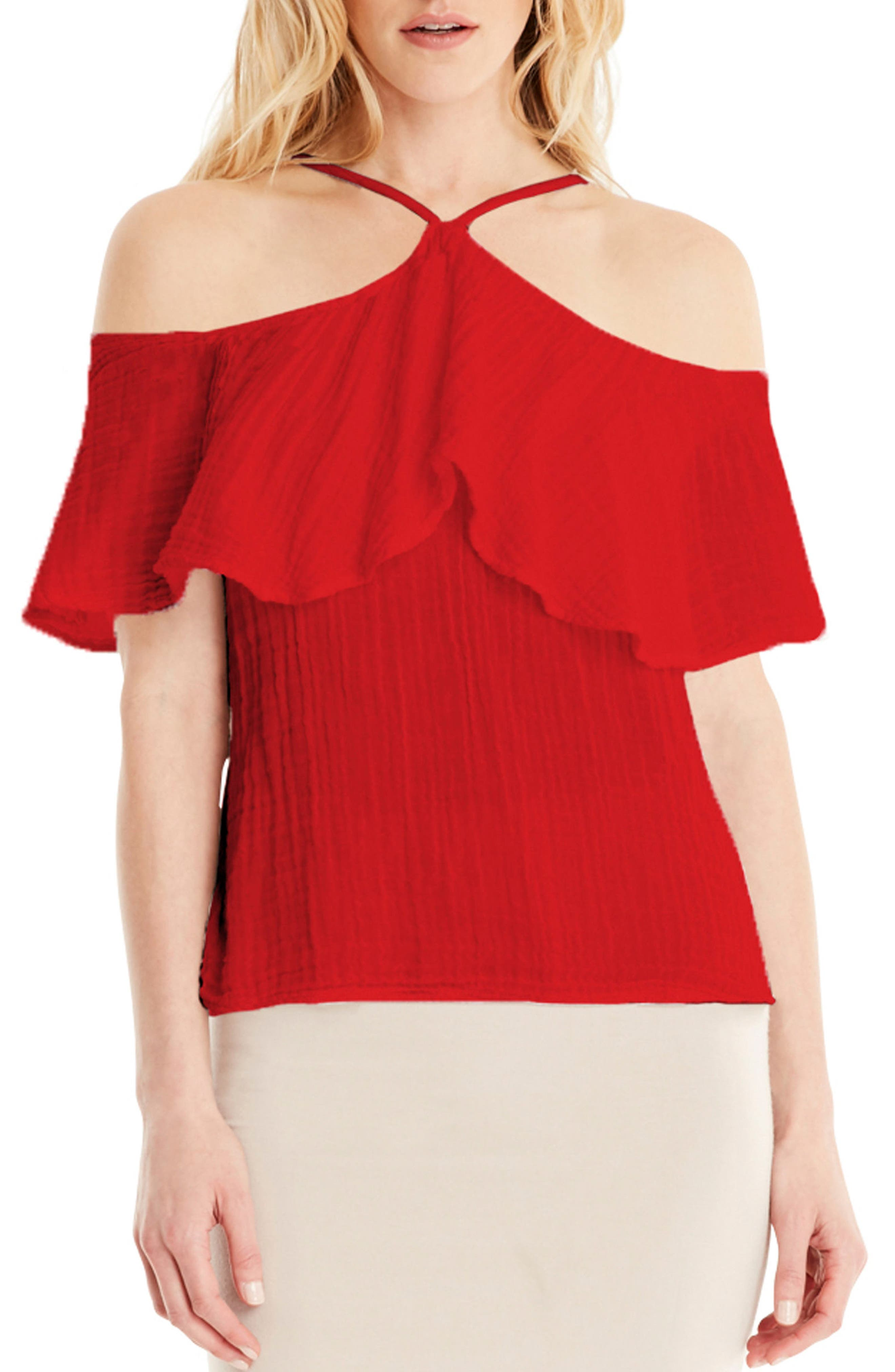 Alternate Image 1 Selected - Michael Stars Cold Shoulder Top