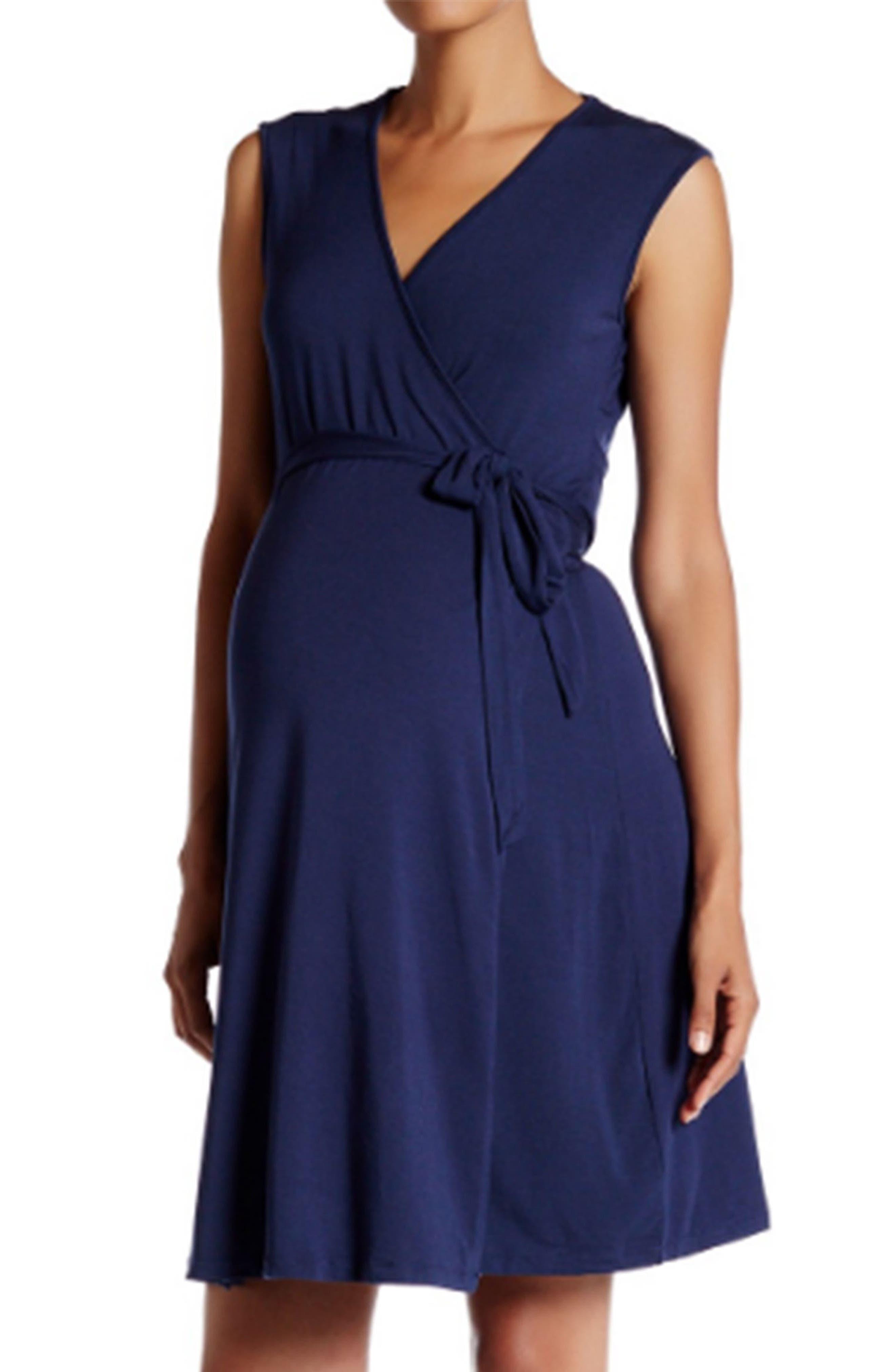 TART MATERNITY Charmaine Print Jersey Maternity Wrap Dress