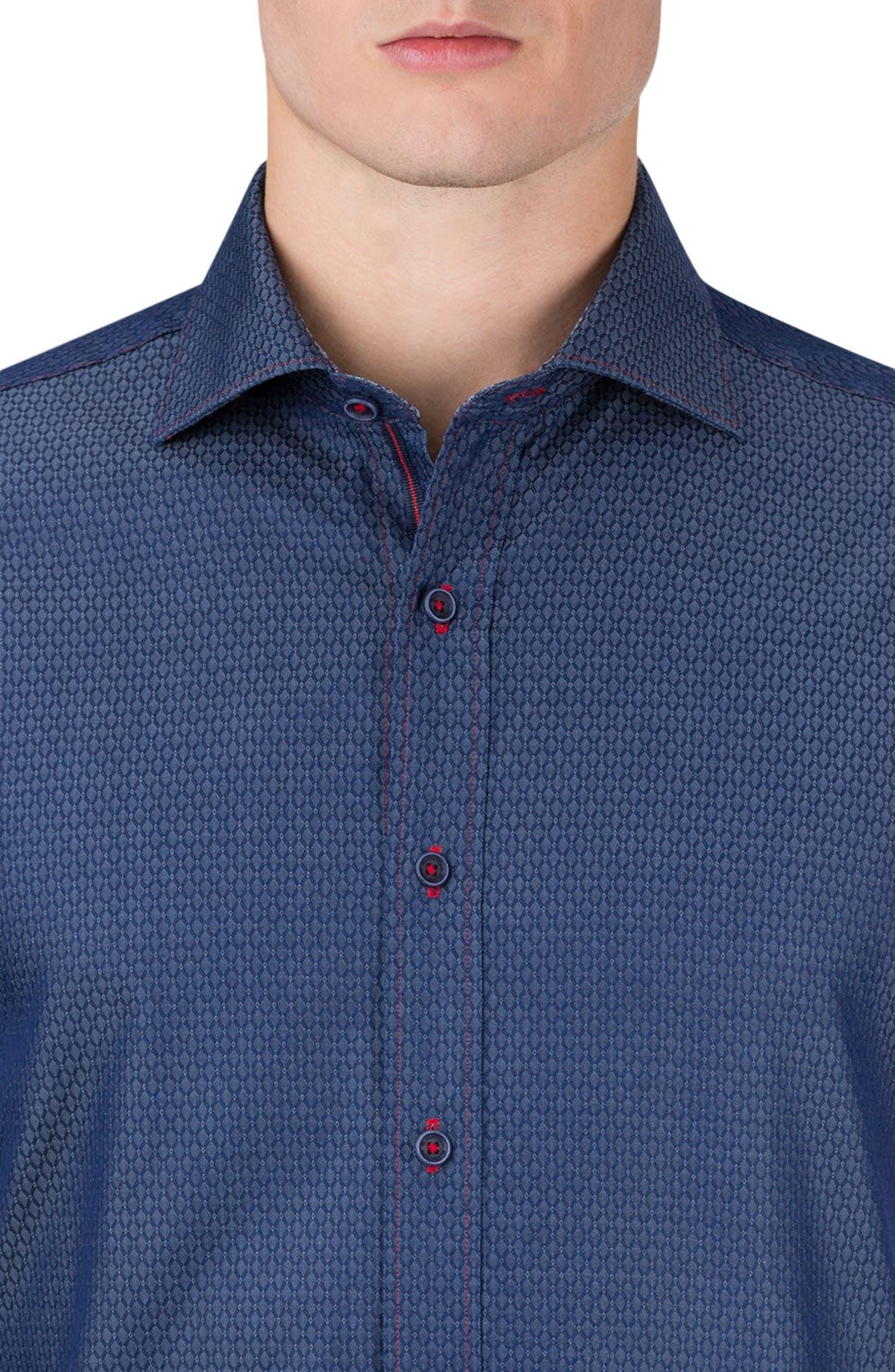 Alternate Image 3  - Bugatchi Shaped Fit Sport Shirt