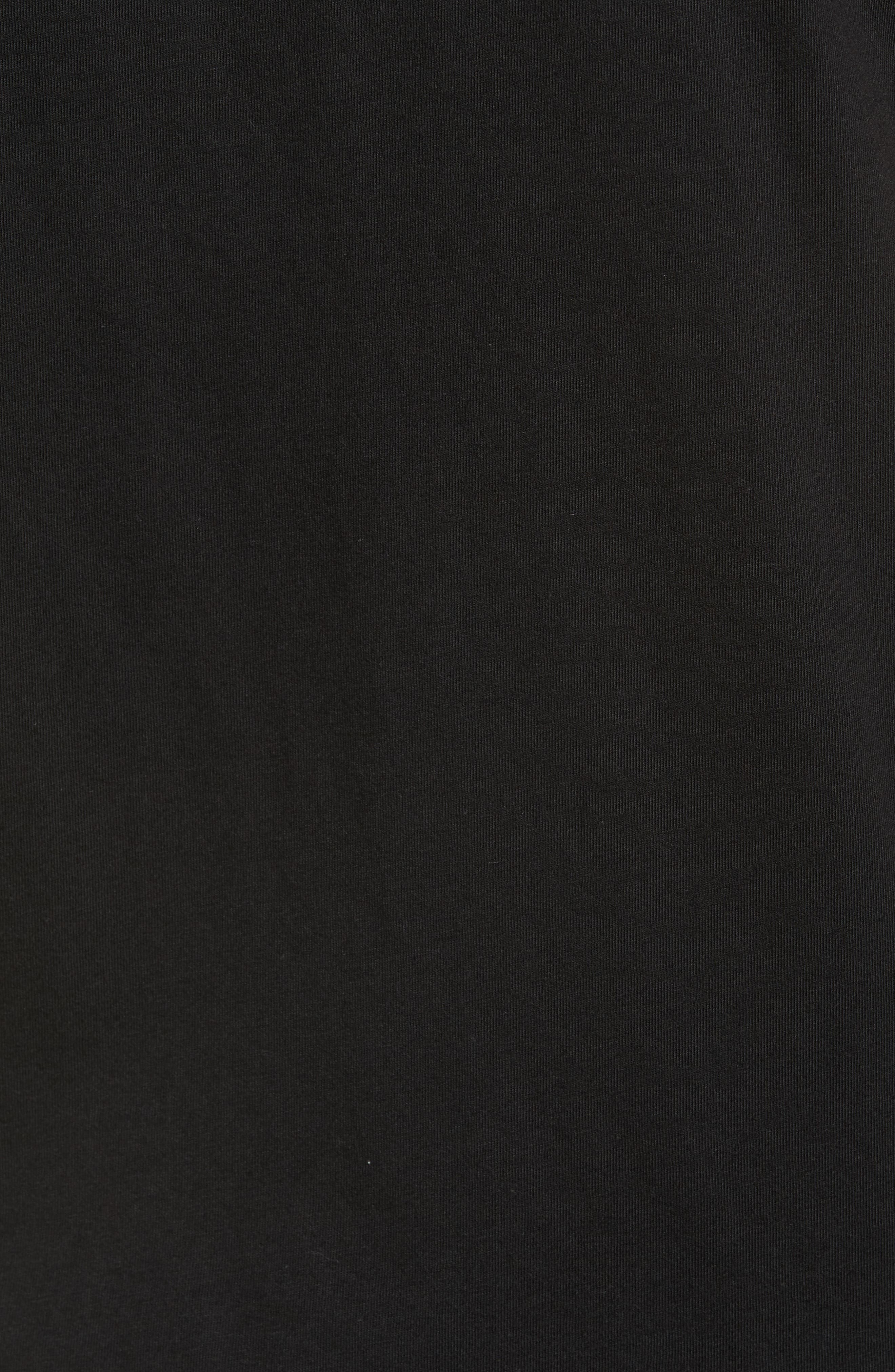 Fill Die Cut T-Shirt,                             Alternate thumbnail 5, color,                             Black