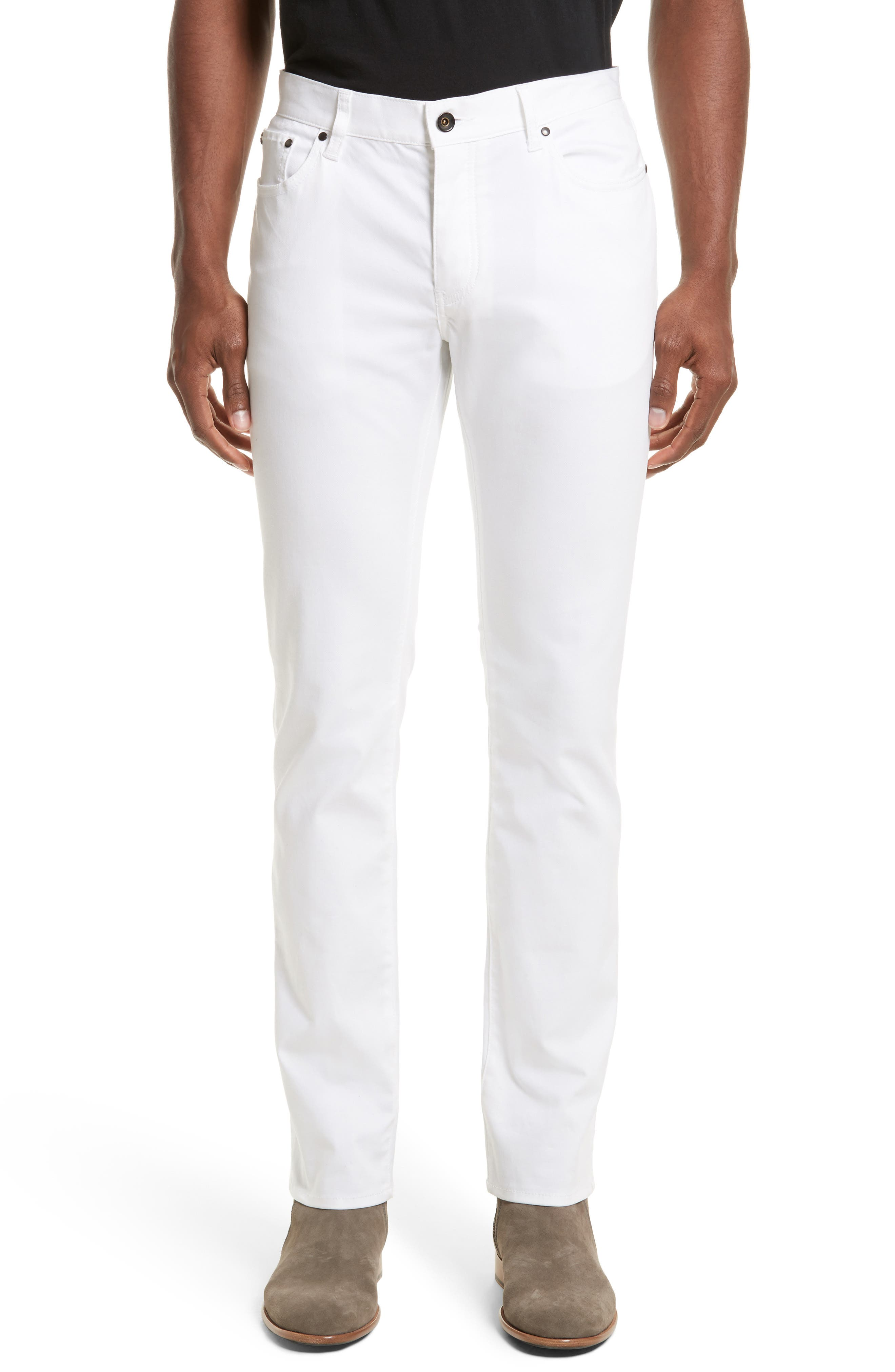 John Varvatos Collection Slim Fit Five Pocket Pants