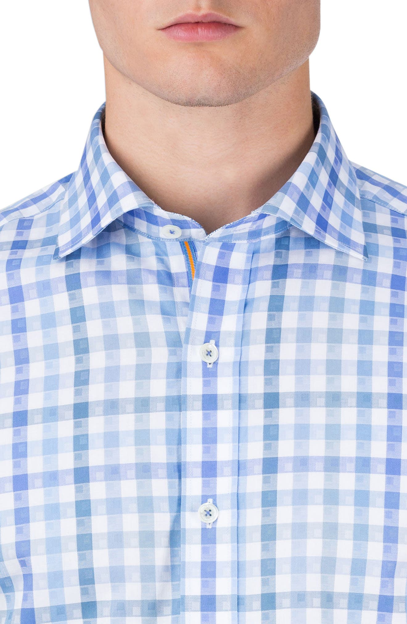 Alternate Image 3  - Bugatchi Classic Fit Check Short Sleeve Sport Shirt