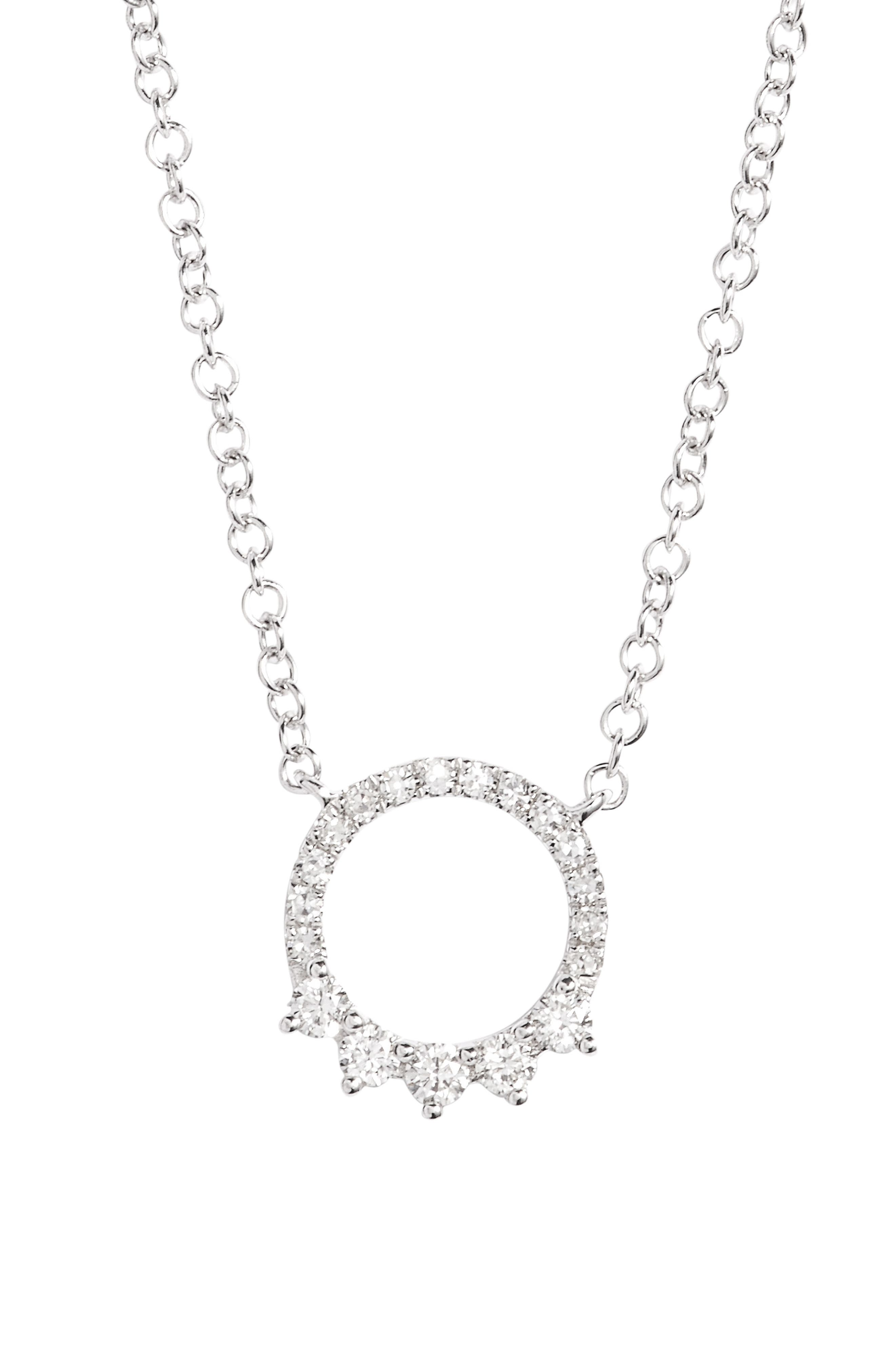 EF COLLECTION Circle Pendant Necklace