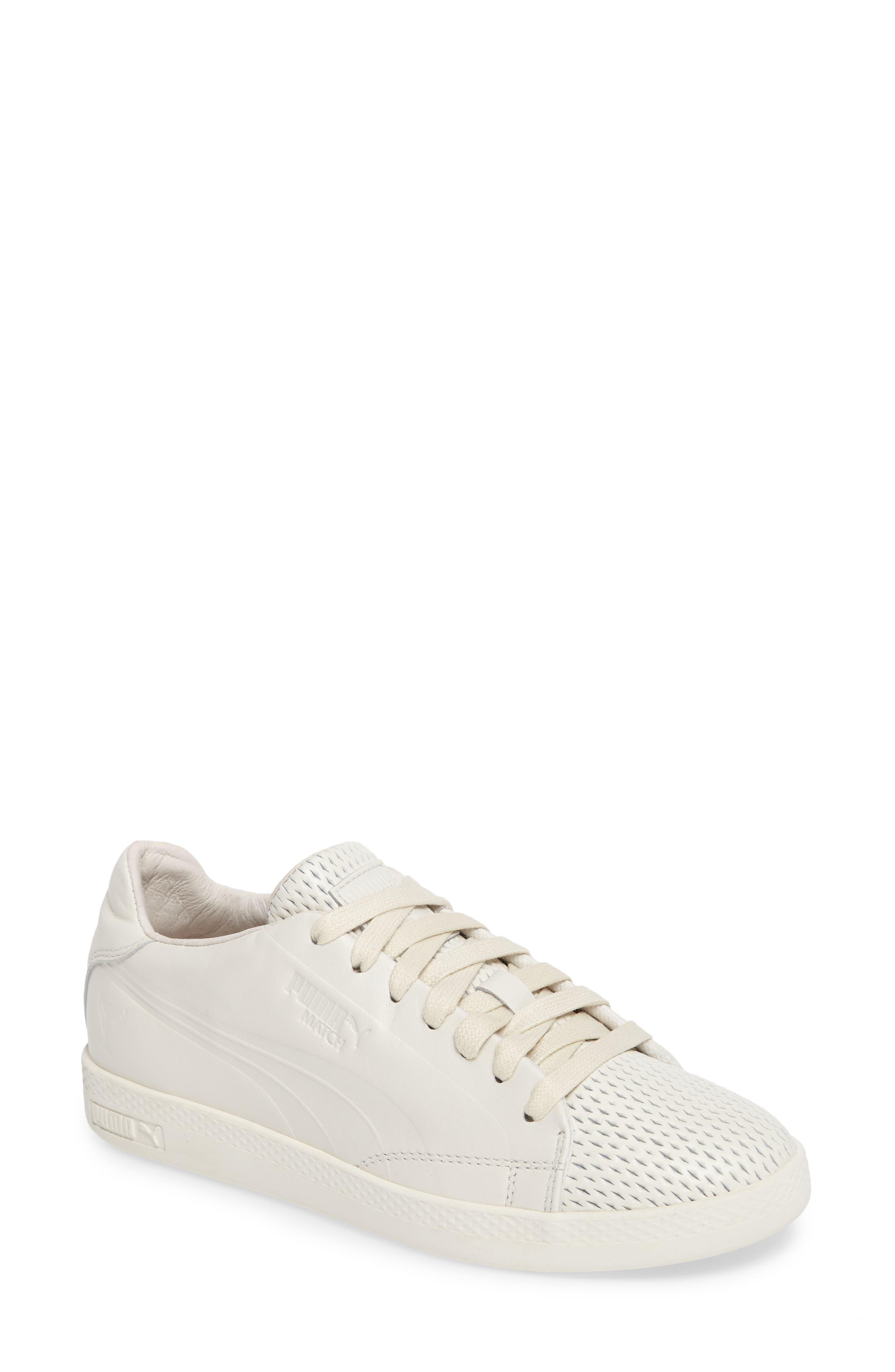 Match Lo Open Sneaker,                             Main thumbnail 1, color,                             Whisper White/ Whisper White