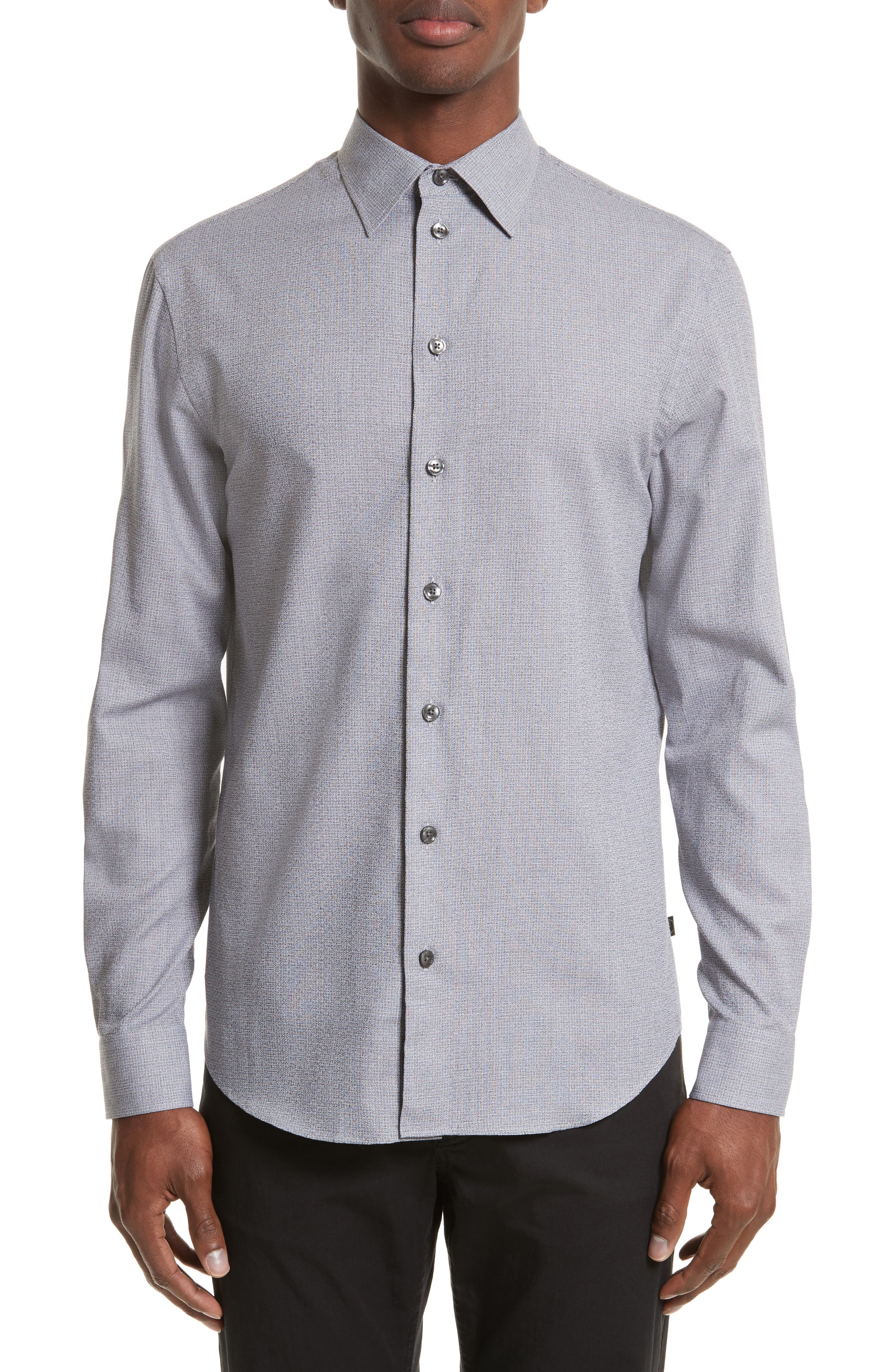 Main Image - Armani Collezioni Textured Sport Shirt