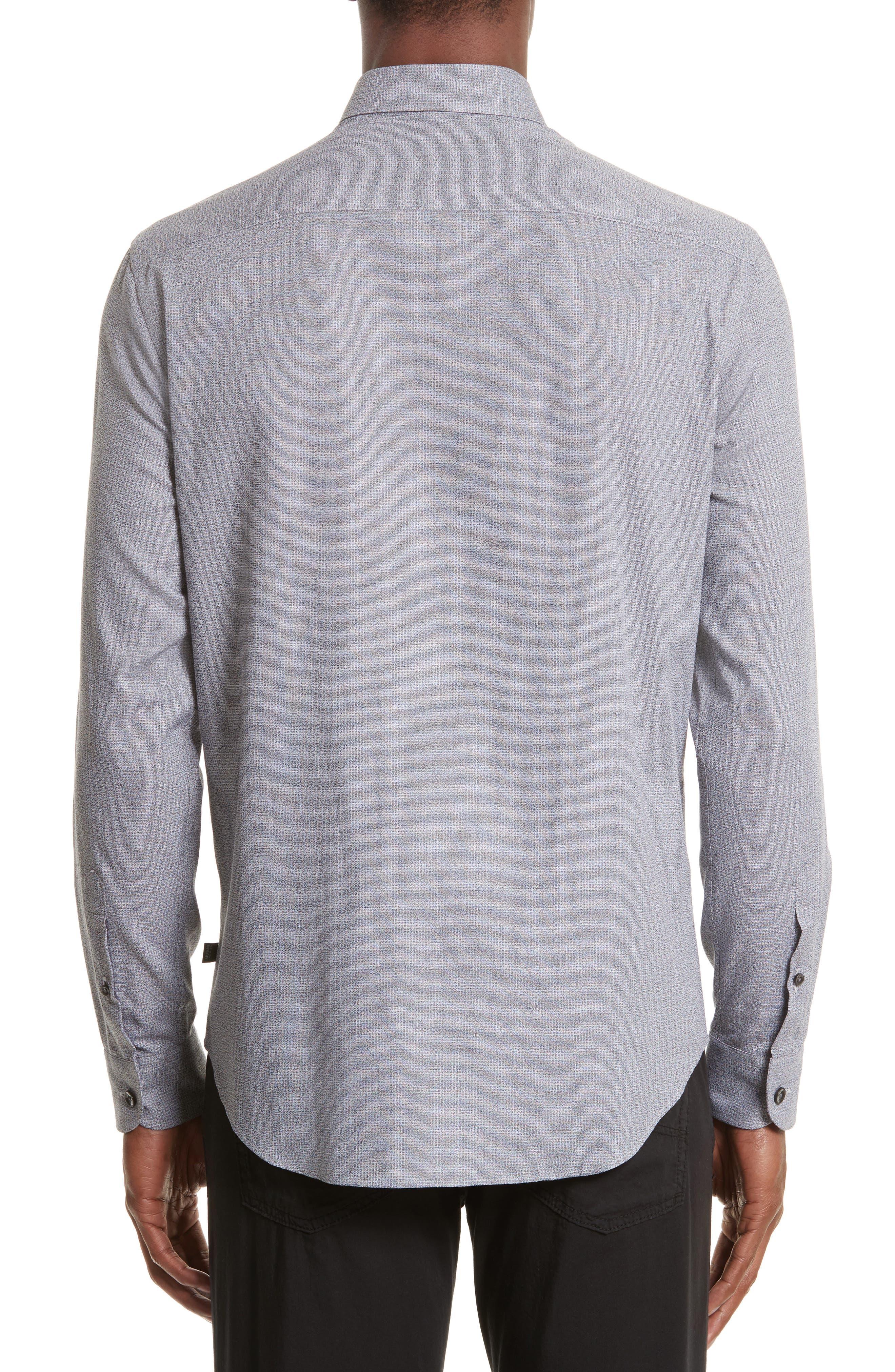 Alternate Image 2  - Armani Collezioni Textured Sport Shirt