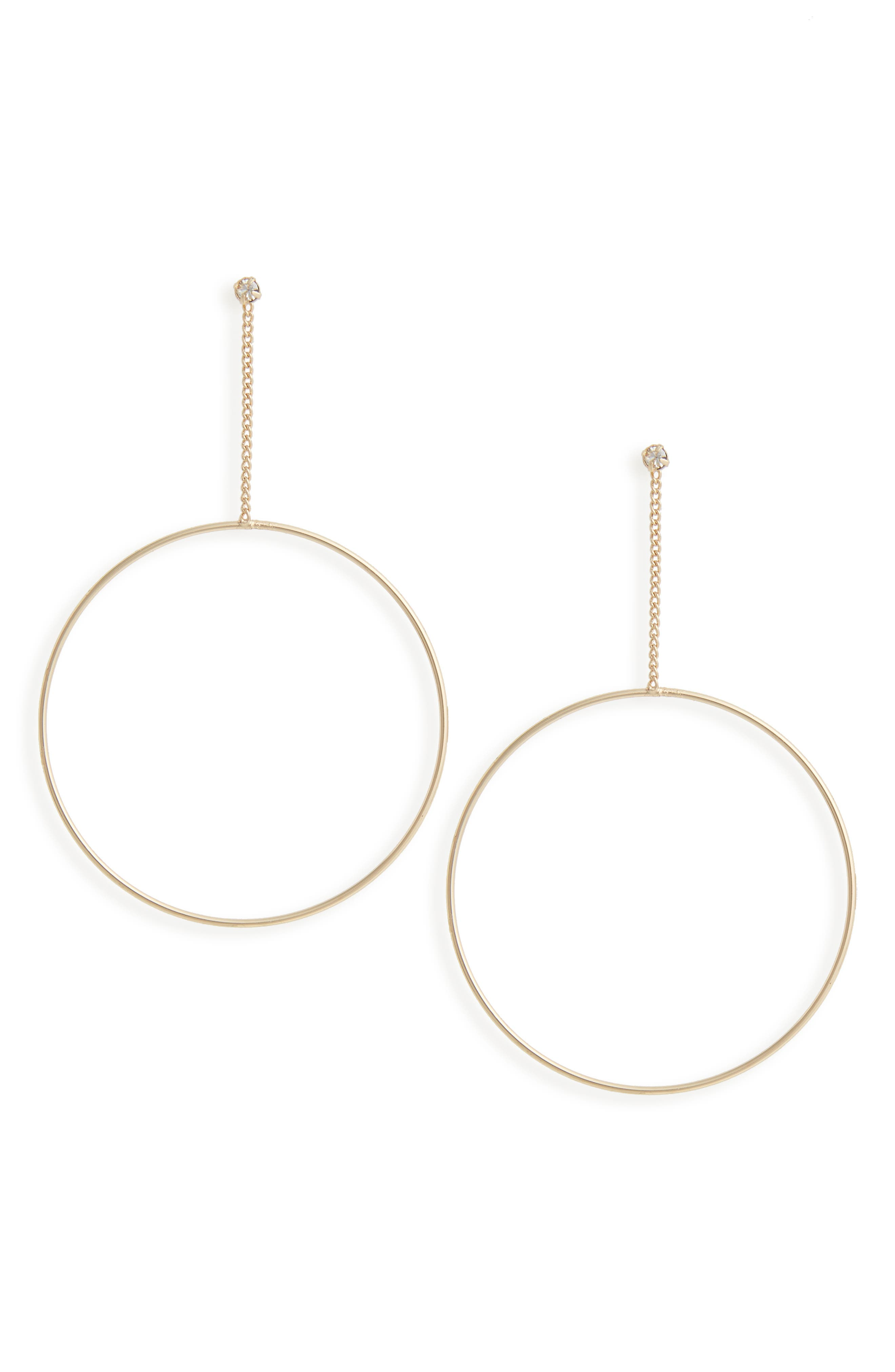 LOREN OLIVIA Hoop Drop Earrings