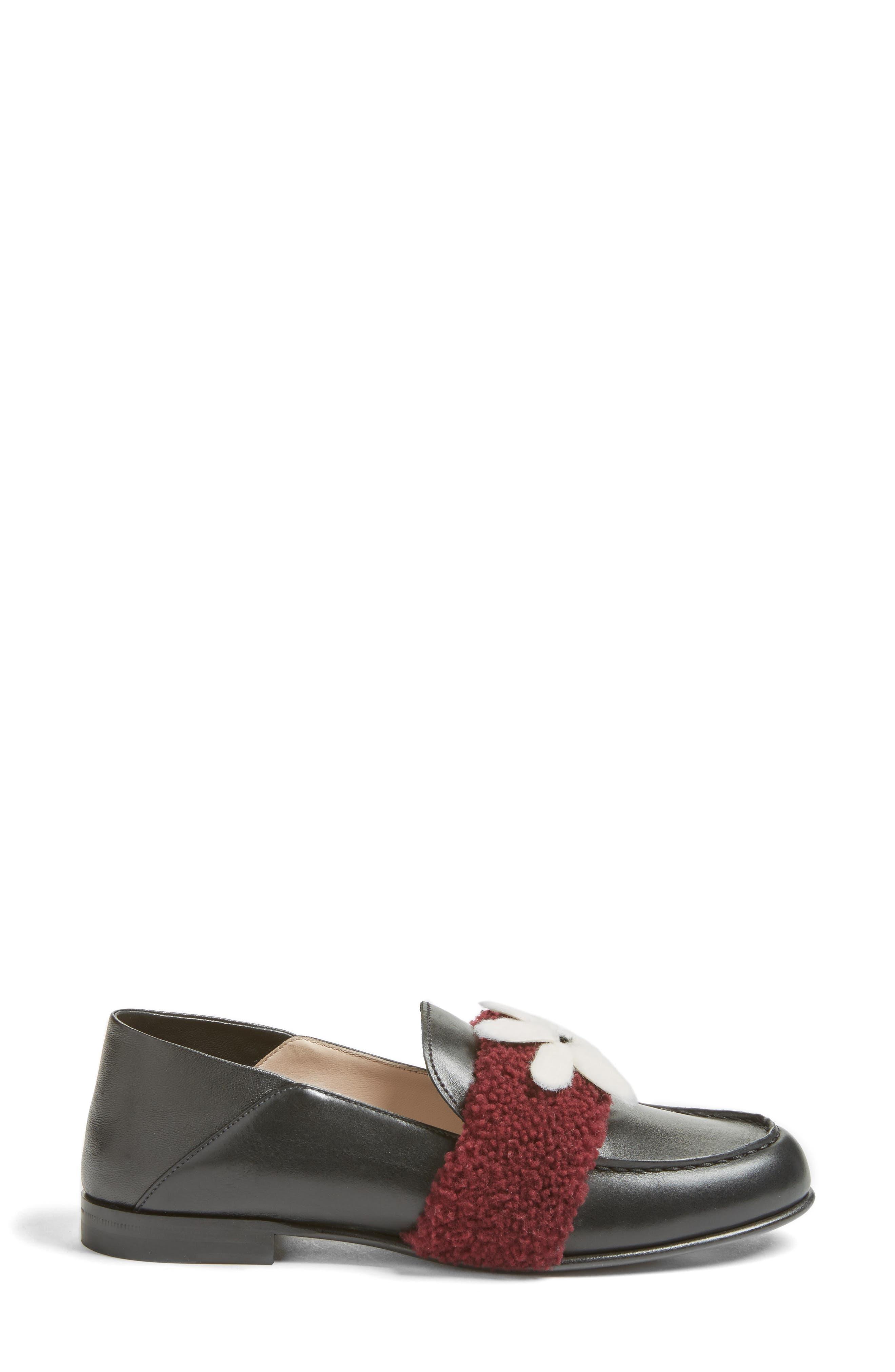 Alternate Image 3  - Fendi Genuine Shearling Slip-On Loafer (Women)