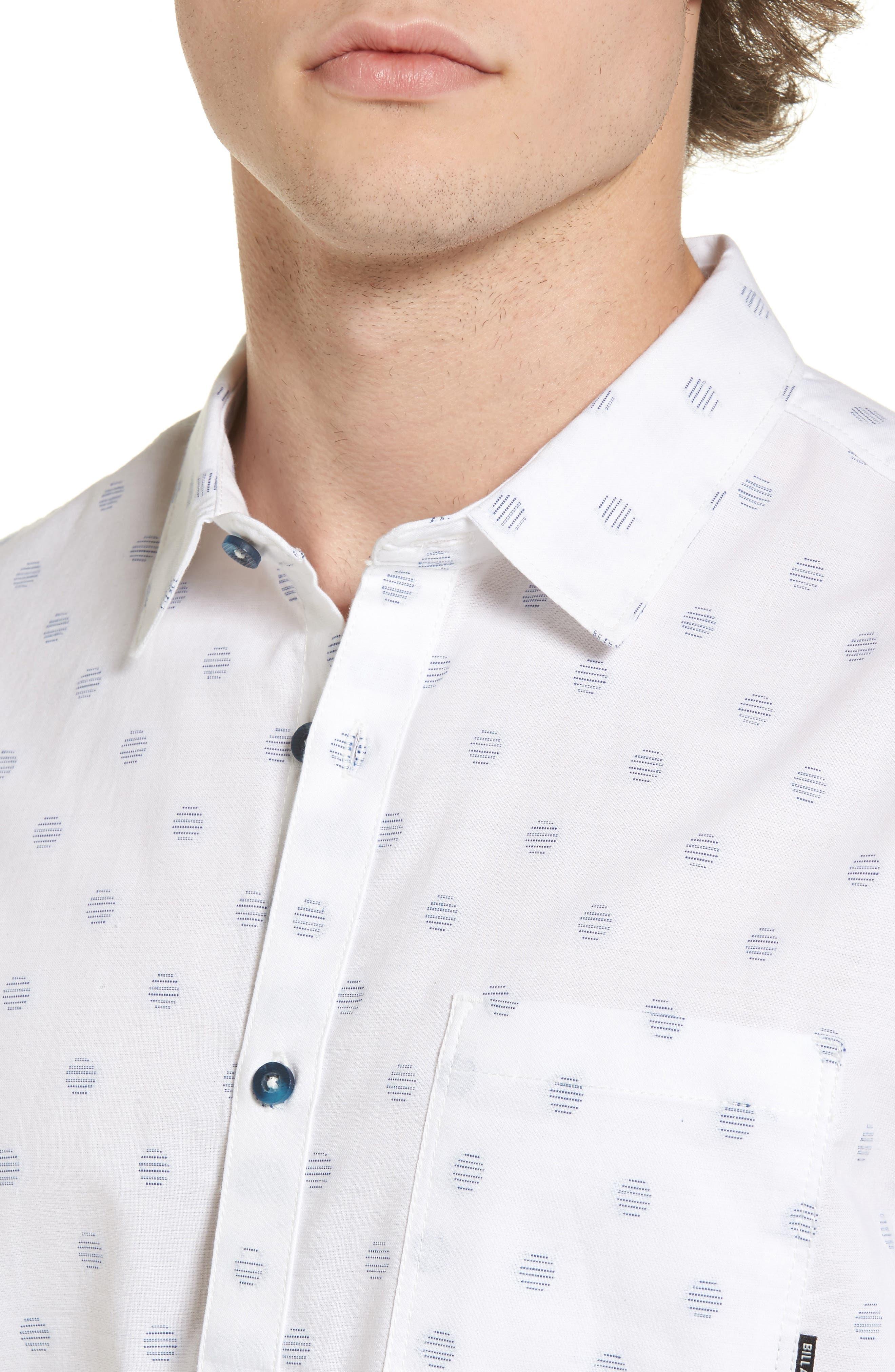 Cruisin Dobby Woven Shirt,                             Alternate thumbnail 4, color,                             White