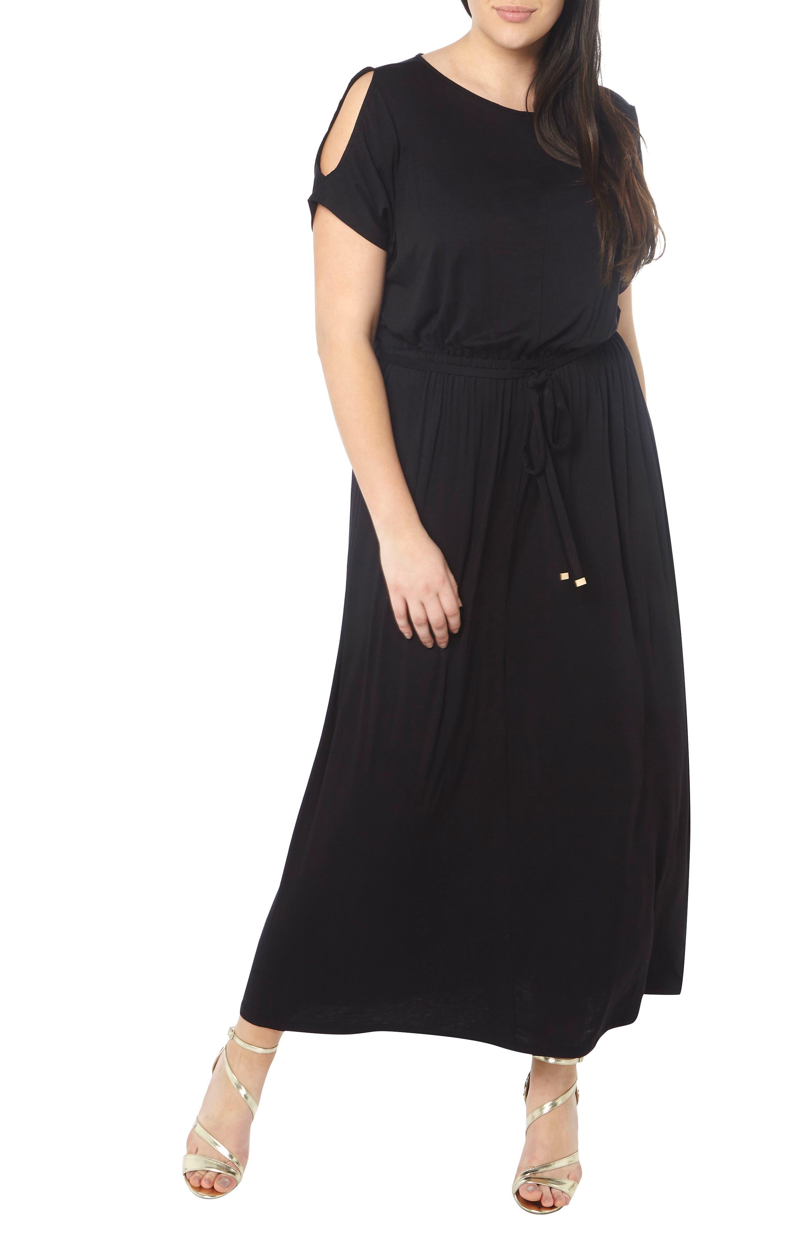 DOROTHY PERKINS Cold Shoulder Jersey Maxi Dress