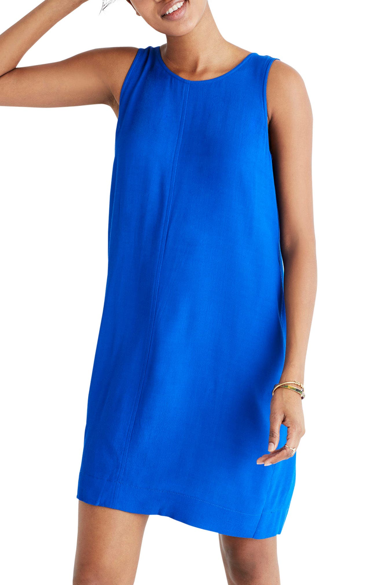 Lakeshore Button Back Dress,                             Main thumbnail 1, color,                             Brilliant Royal
