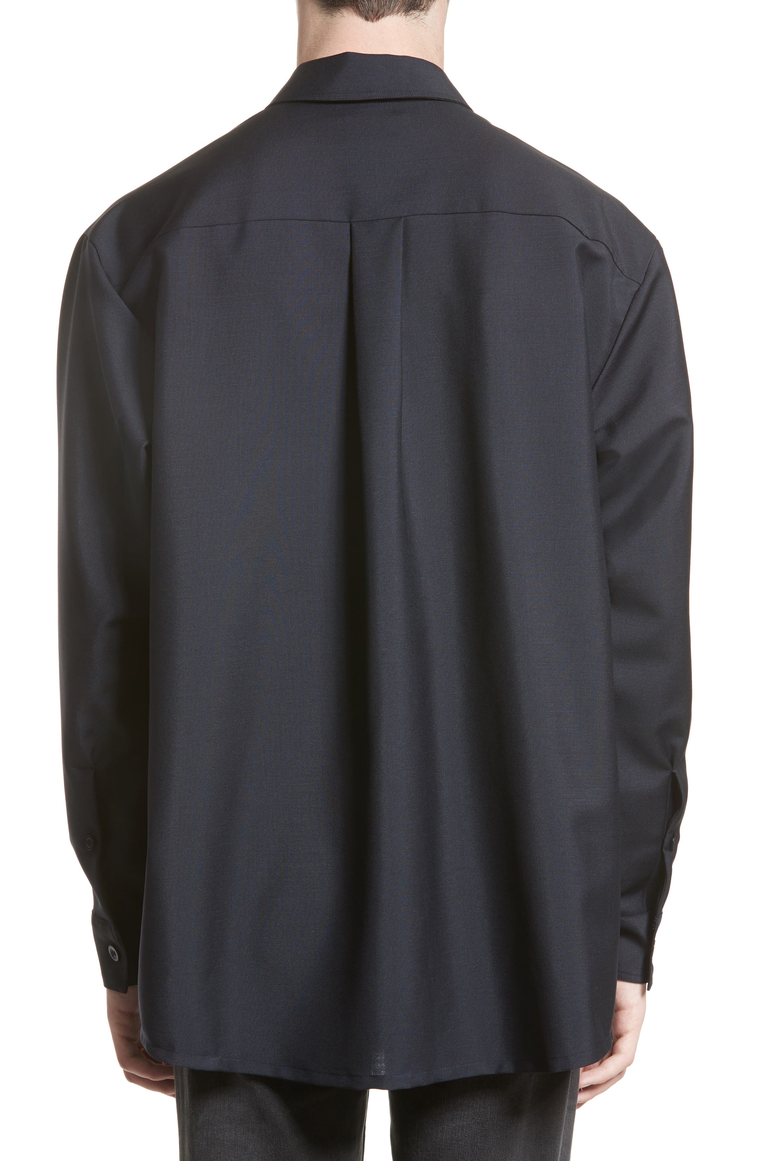 Houston Double Pocket Shirt,                             Alternate thumbnail 2, color,                             Navy