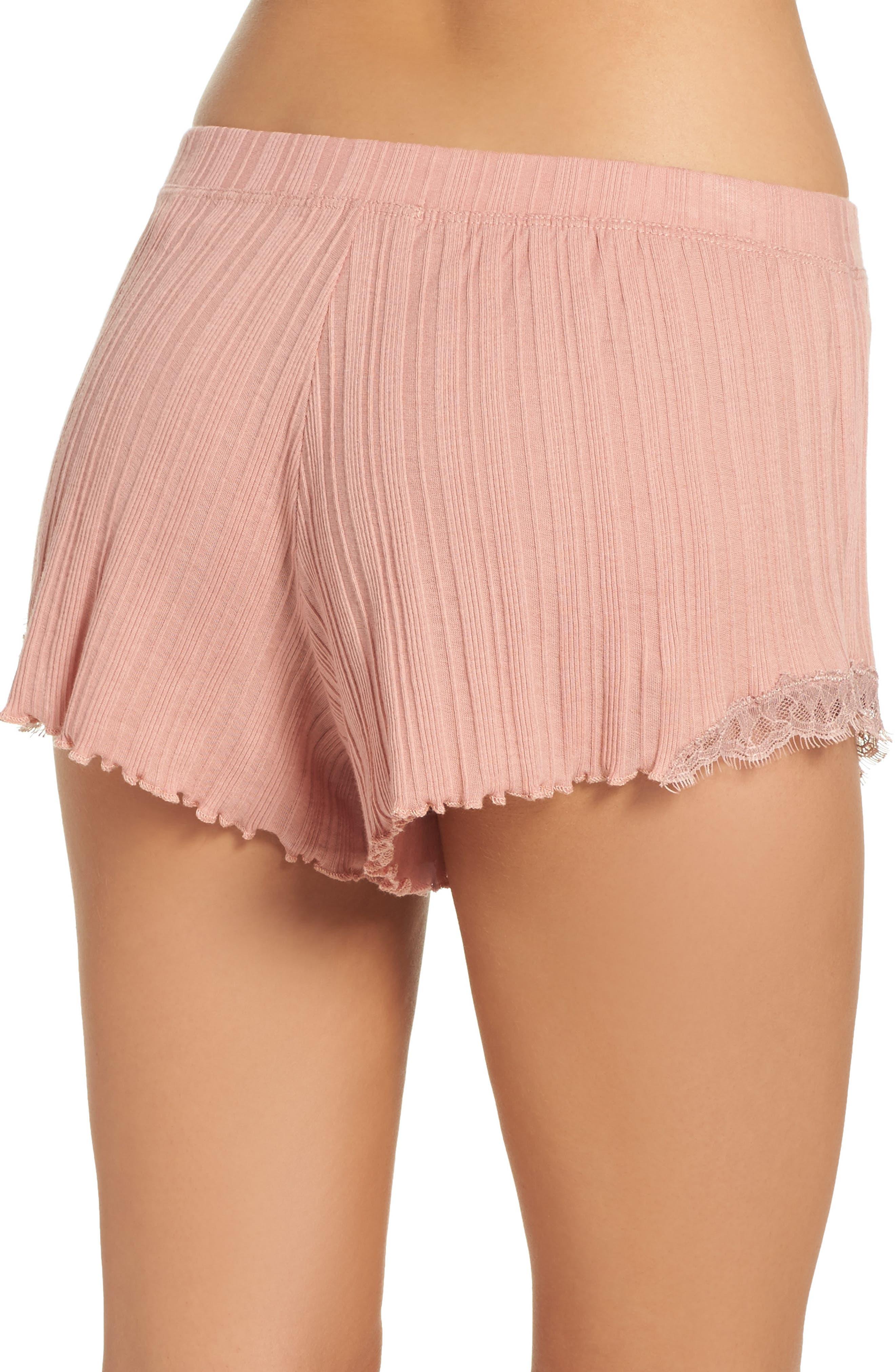 Ribbed Shorts,                             Alternate thumbnail 2, color,                             Vintage Pink