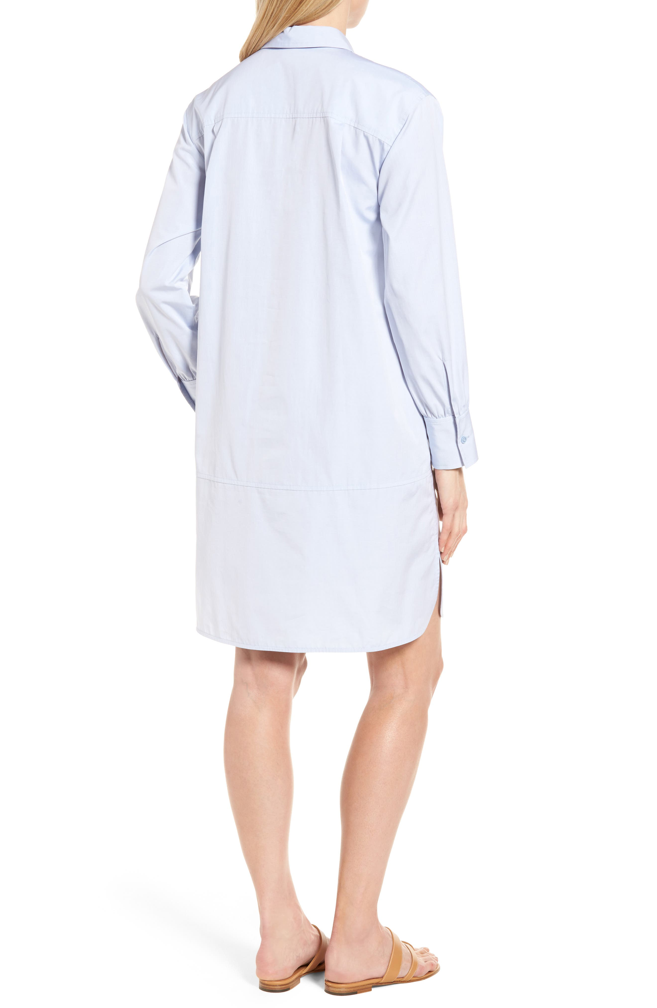 Alternate Image 2  - Nordstrom Signature Solid Poplin Shirtdress