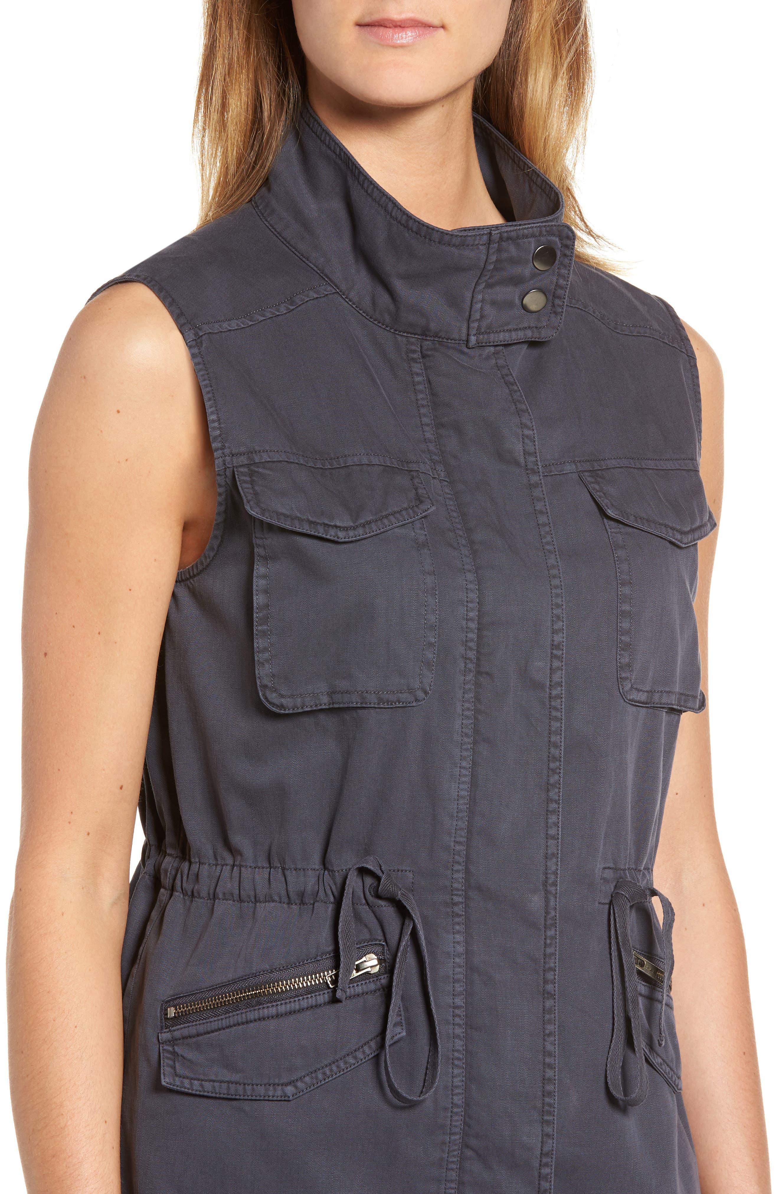 Utility Vest,                             Alternate thumbnail 4, color,                             Grey Ebony