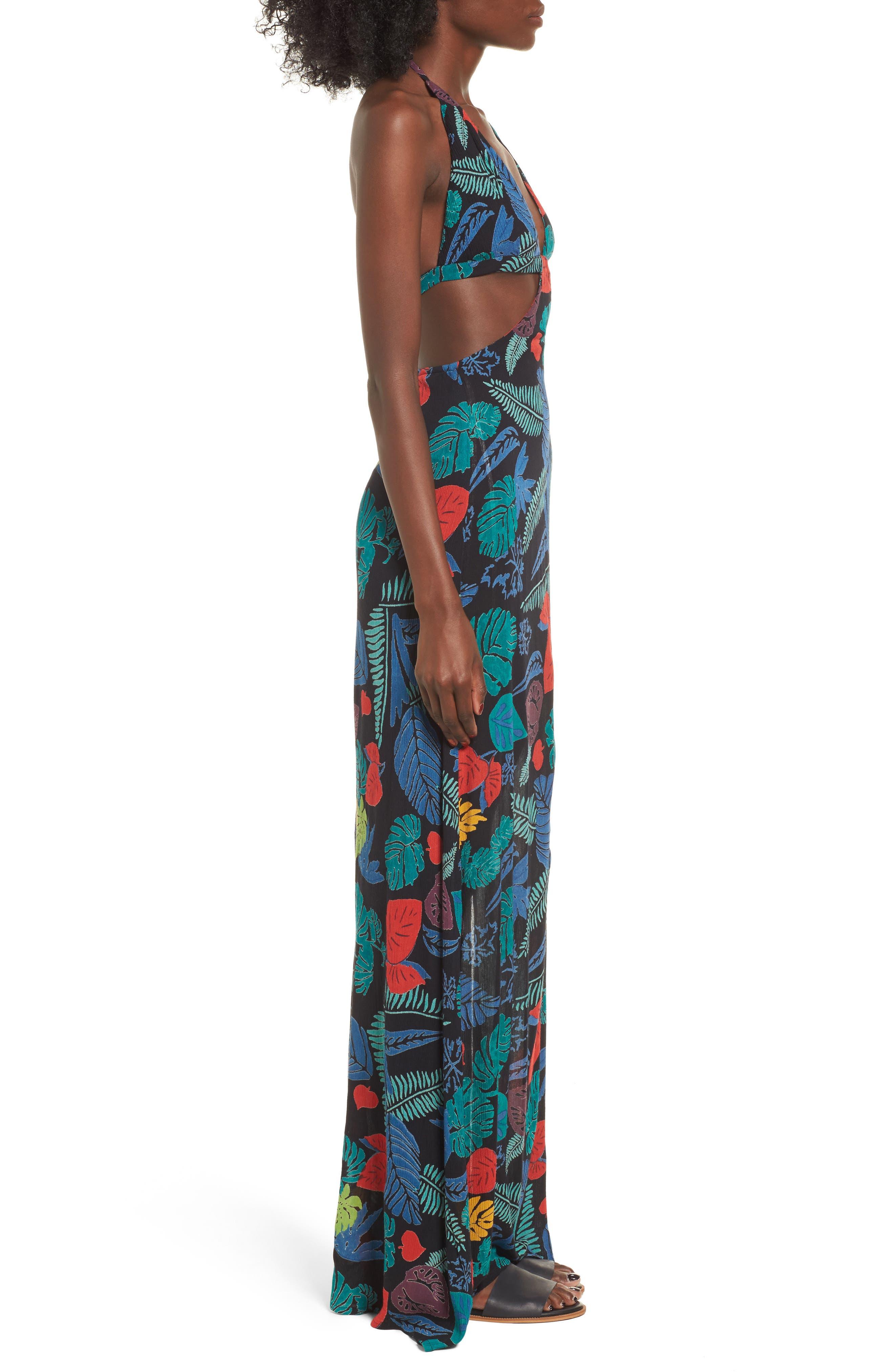 Alternate Image 4  - Raga Punta Uva Cutout Halter Maxi Dress
