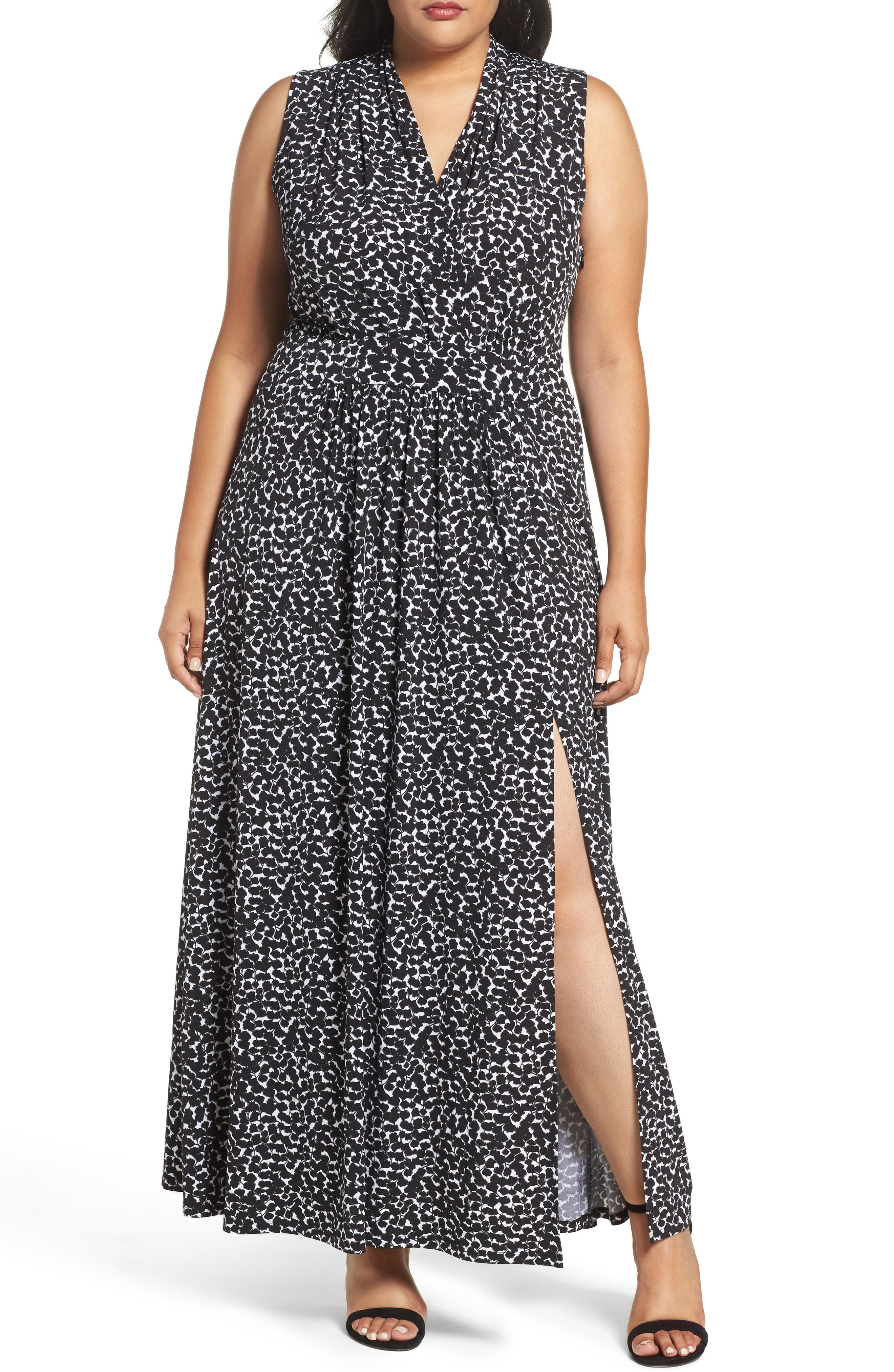 MICHAEL Michael Kors Mini Finley Print Maxi Dress (Plus Size)