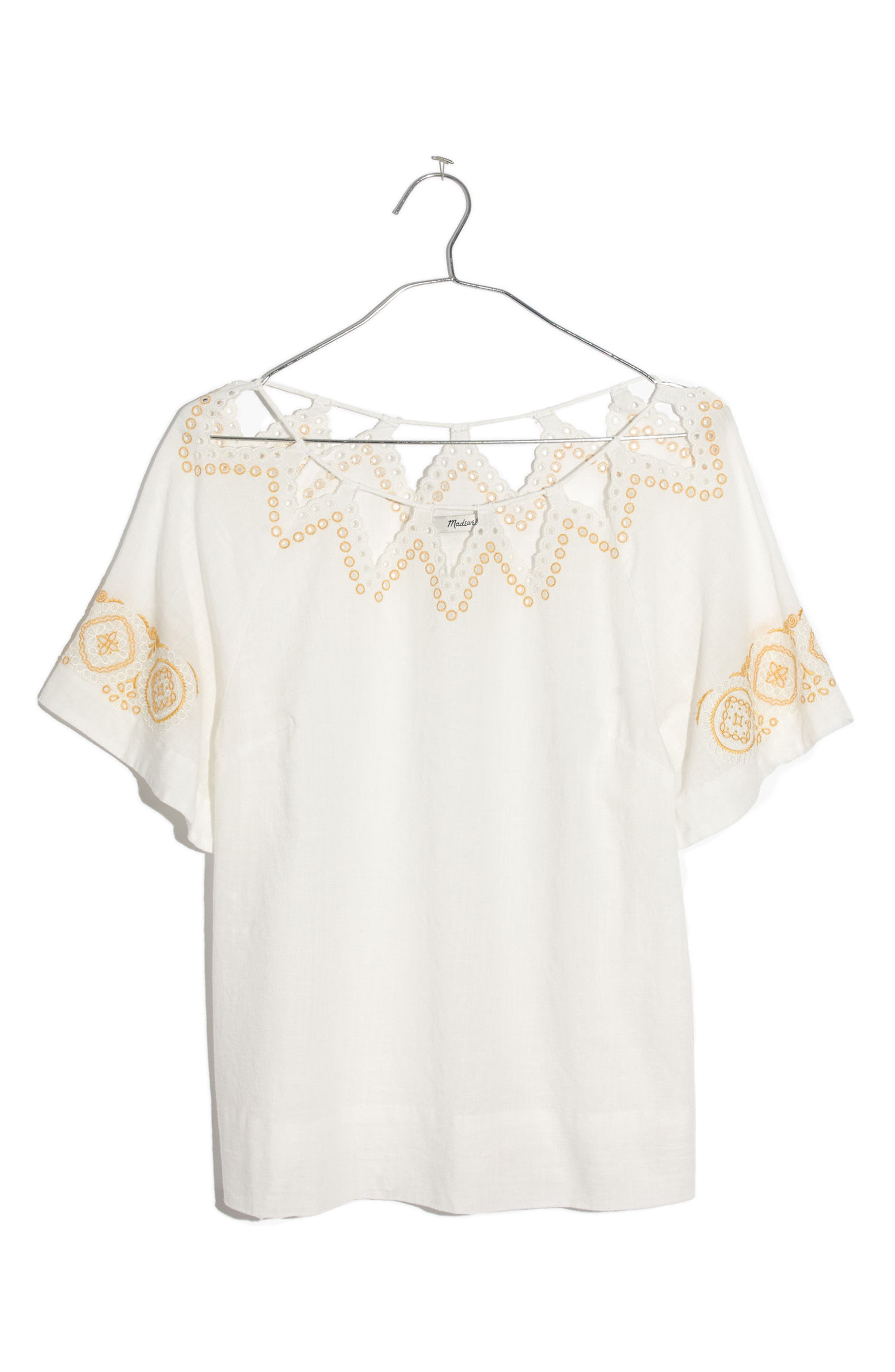Alternate Image 7  - Madewell Eyelet Peekaboo Top
