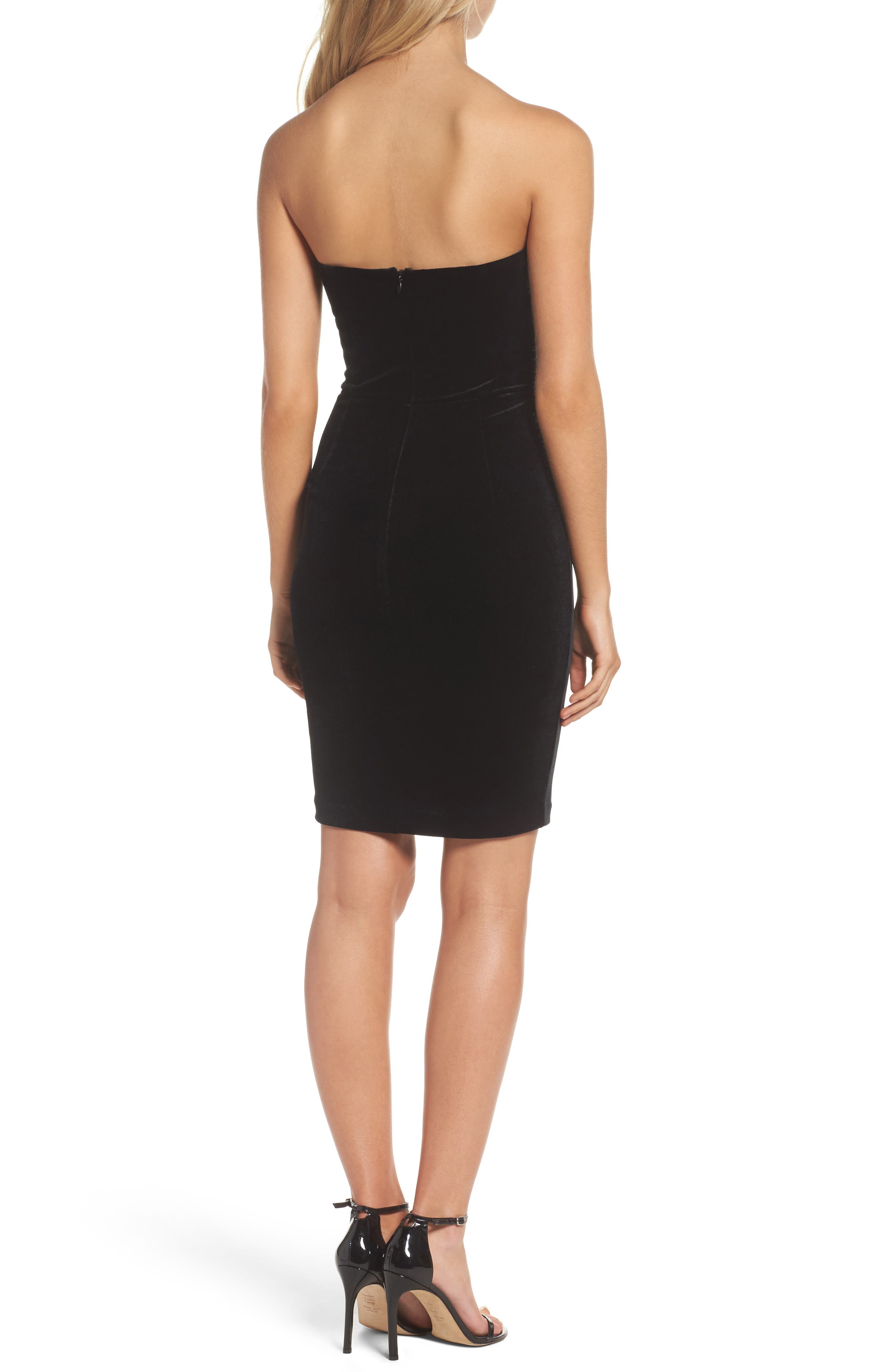 Alternate Image 2  - Bardot Velvet Bustier Dress