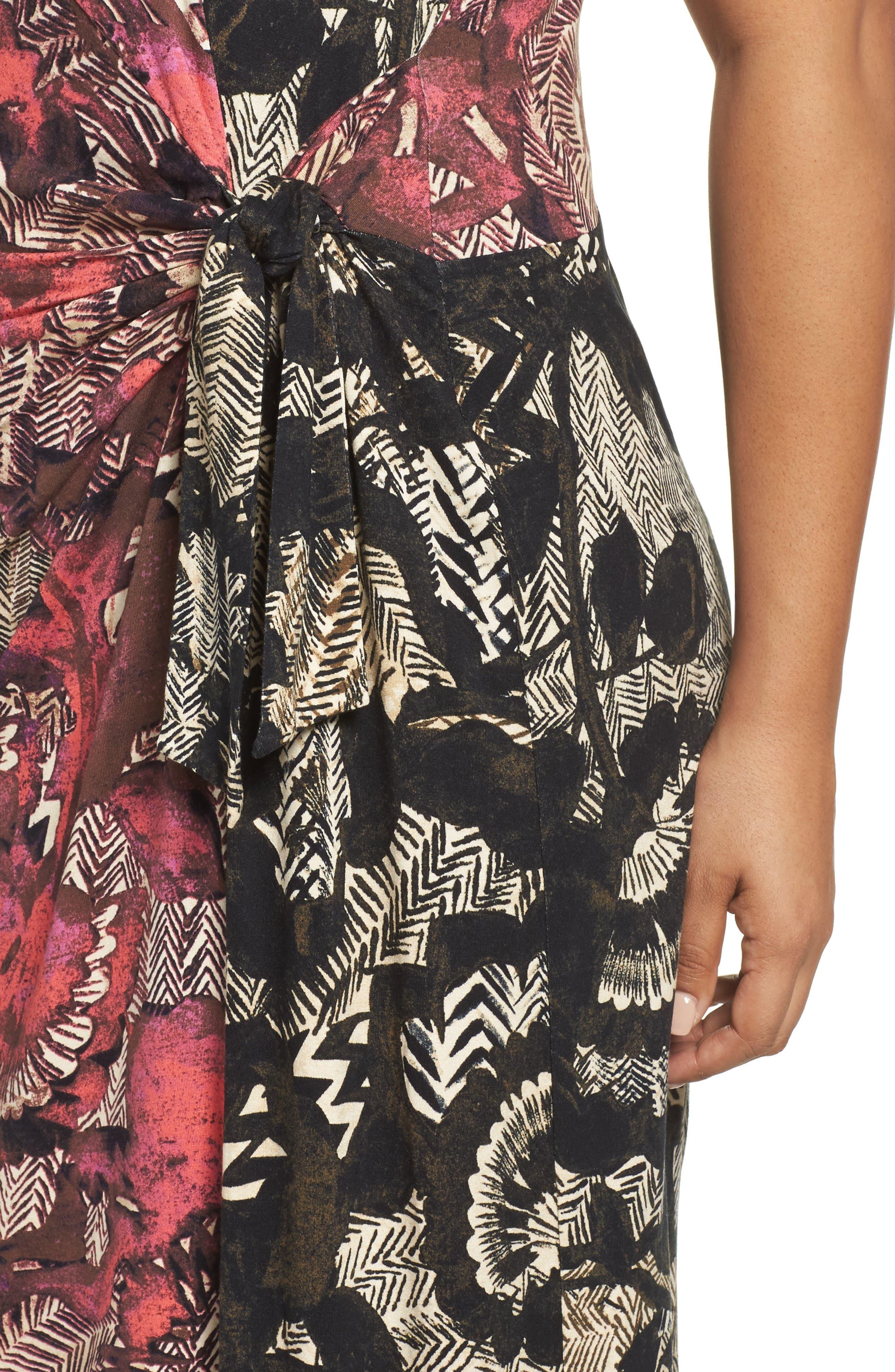 Etched Floral Dress,                             Alternate thumbnail 4, color,                             Multi