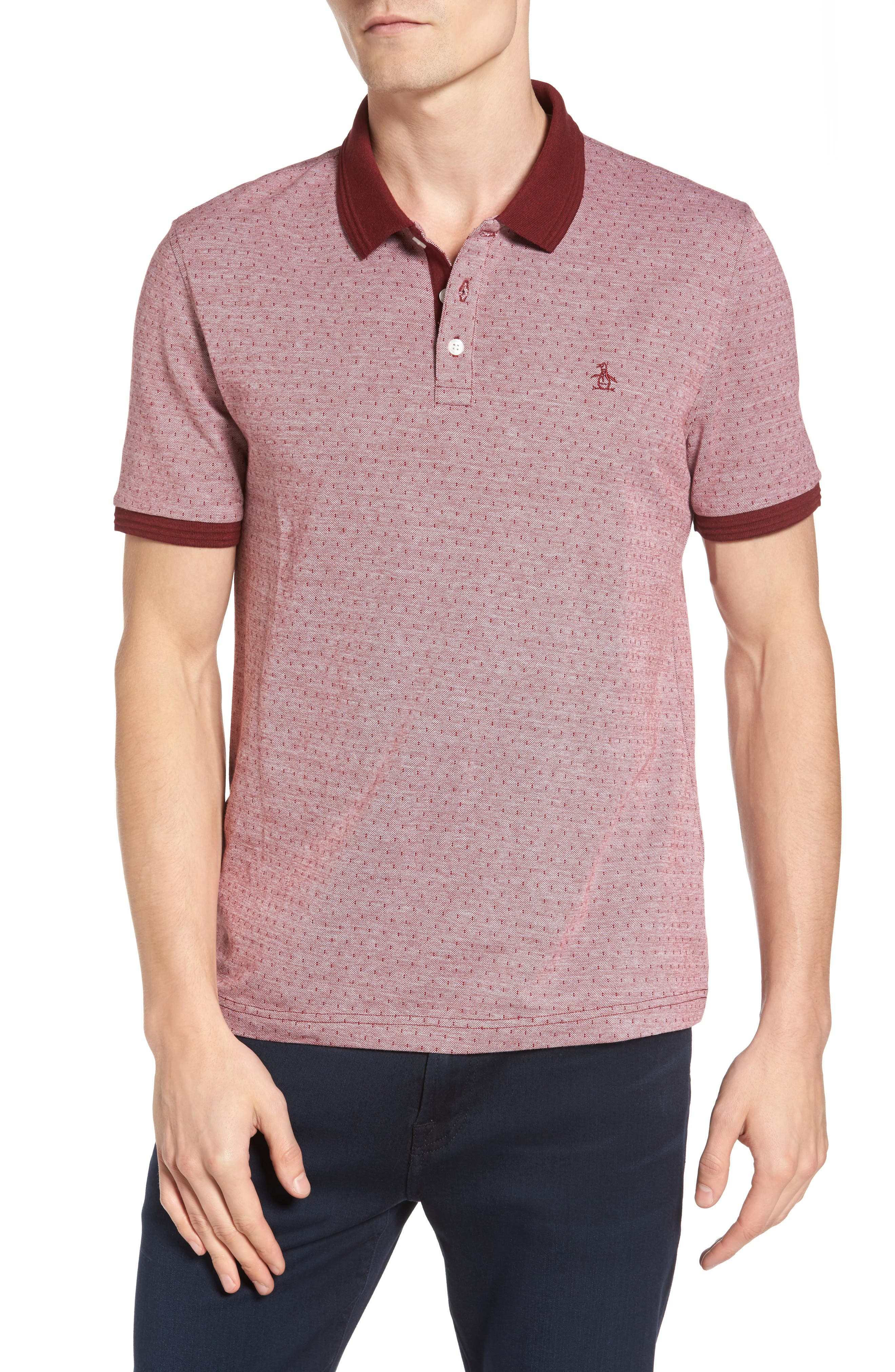 Alternate Image 1 Selected - Original Penguin Bird's Eye Dobby Polo