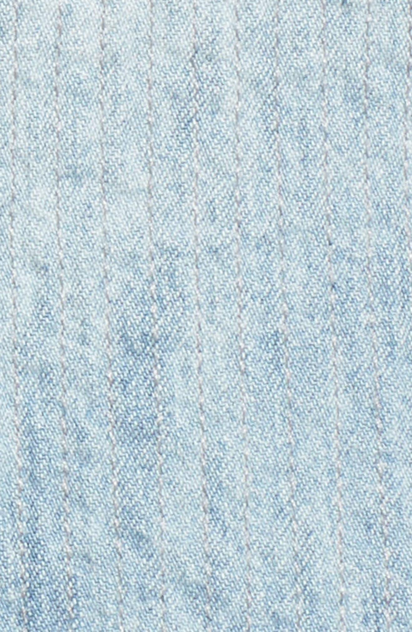 Alternate Image 5  - Lucky Brand Studded Denim Western Shirt