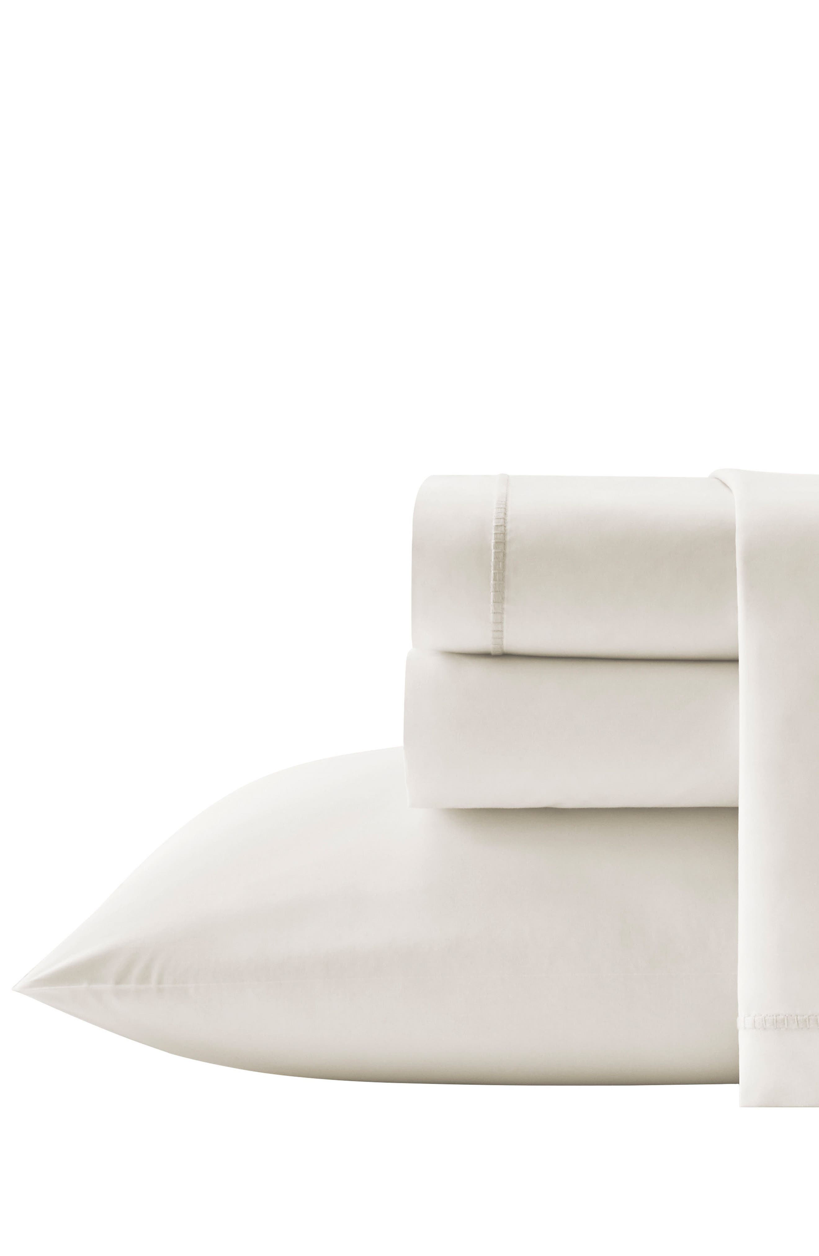 Passementerie 350 Thread Count Fitted Sheet,                         Main,                         color, Natural Bone