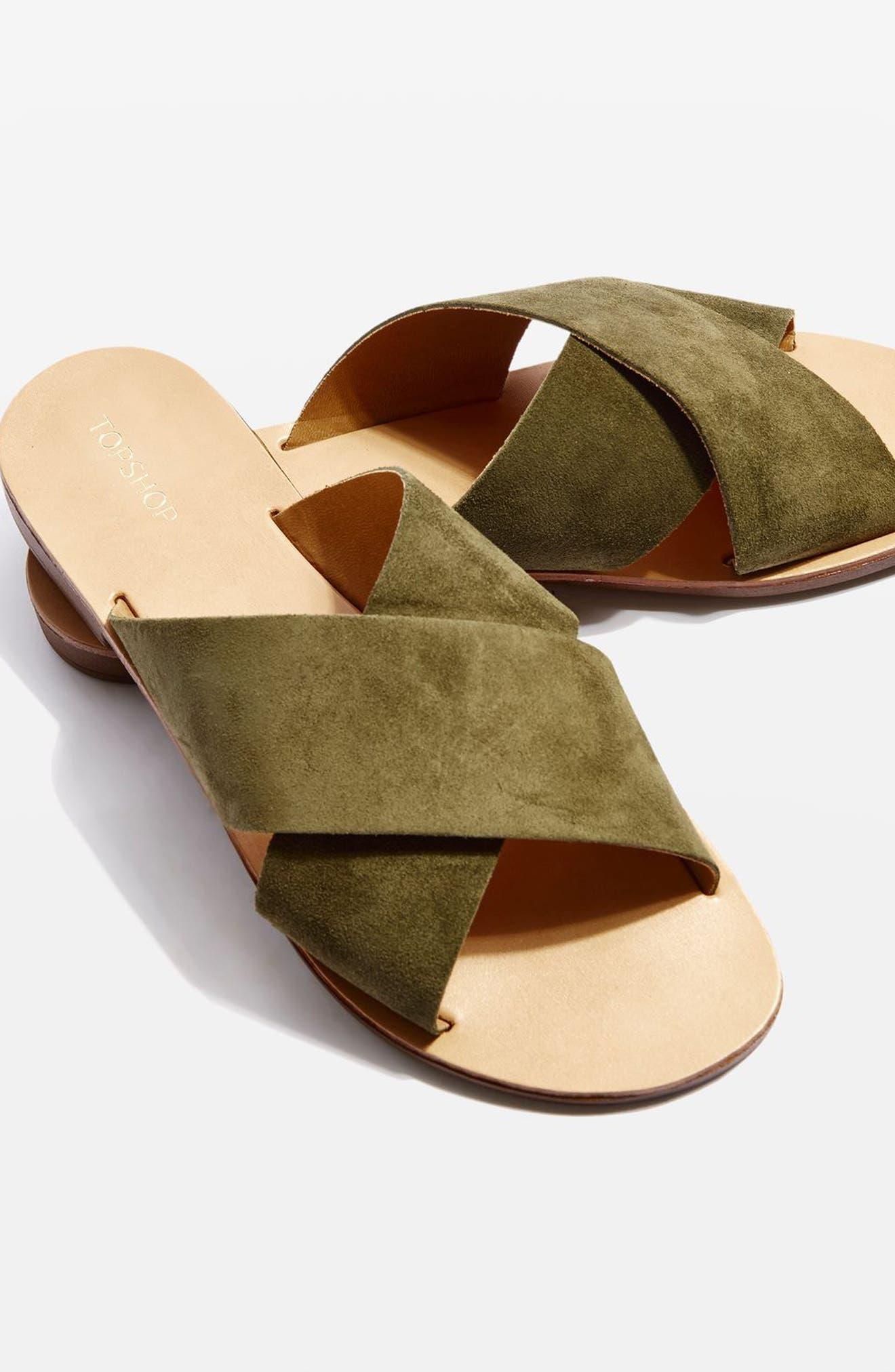 Alternate Image 1 Selected - Topshop Hawaii Crisscross Sandal (Women)
