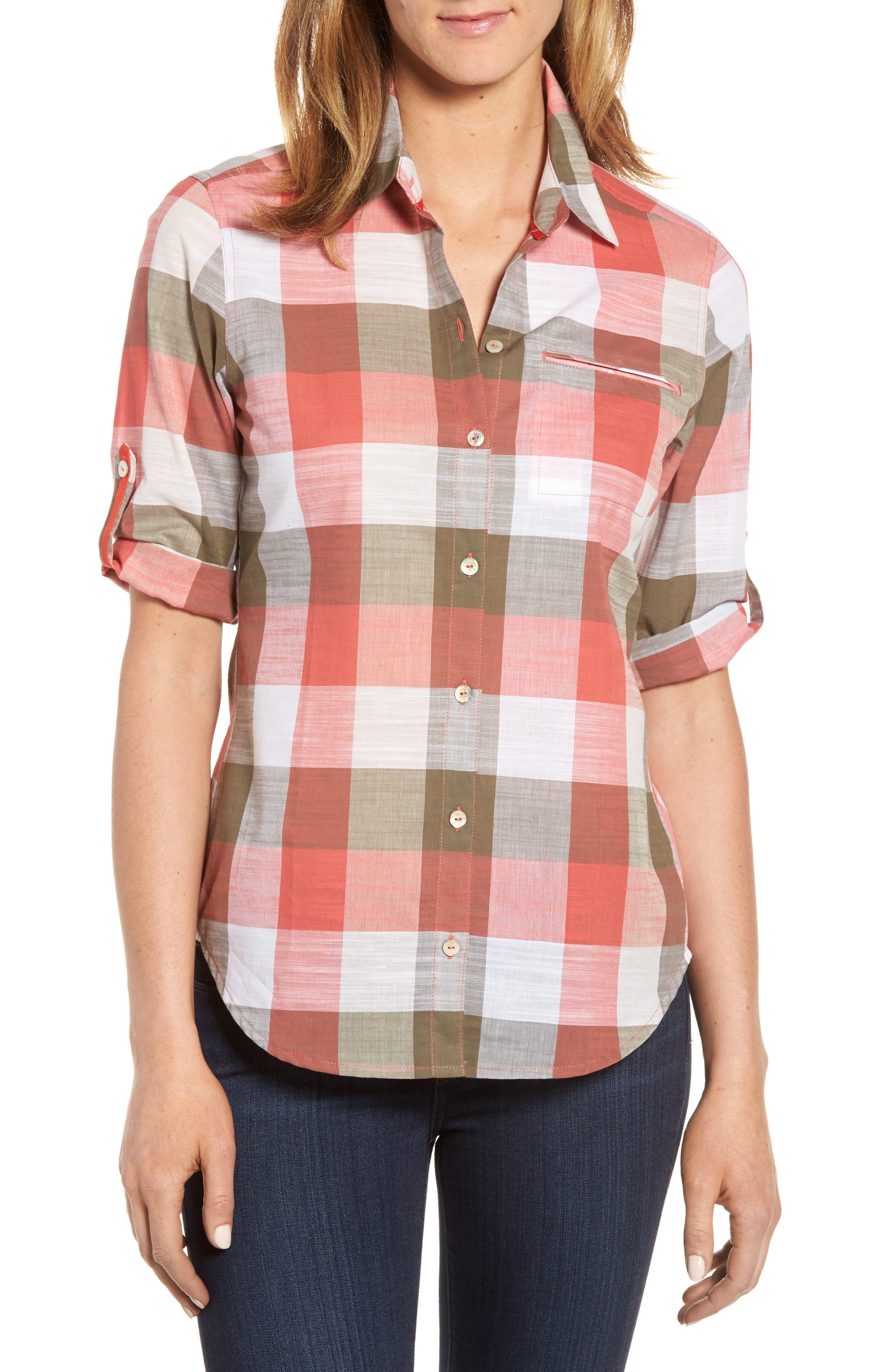 Alternate Image 1 Selected - Foxcroft Reese Buffalo Check Shirt (Regular & Petite)