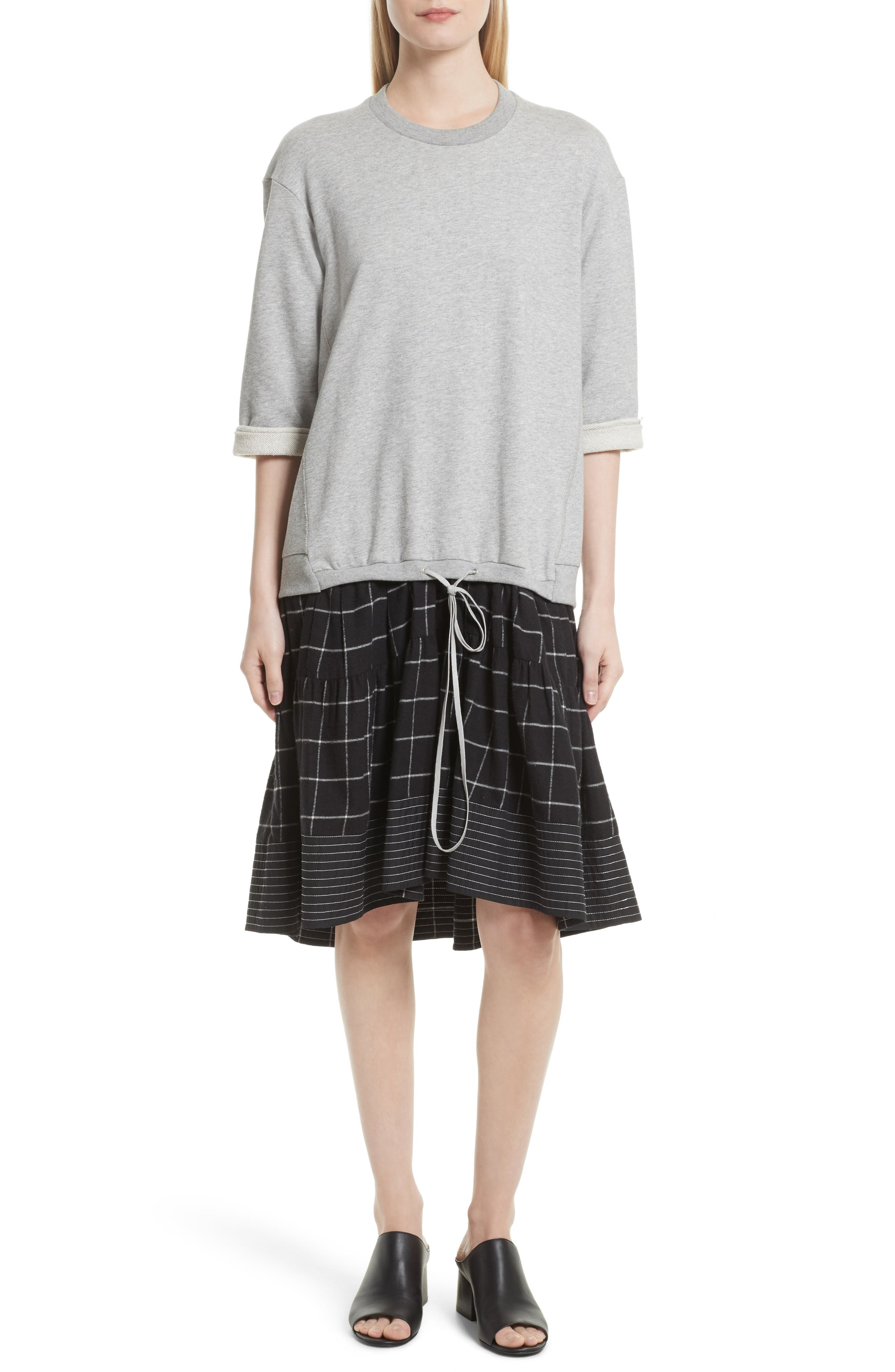 3.1 PHILLIP LIM French Terry Combo Dress