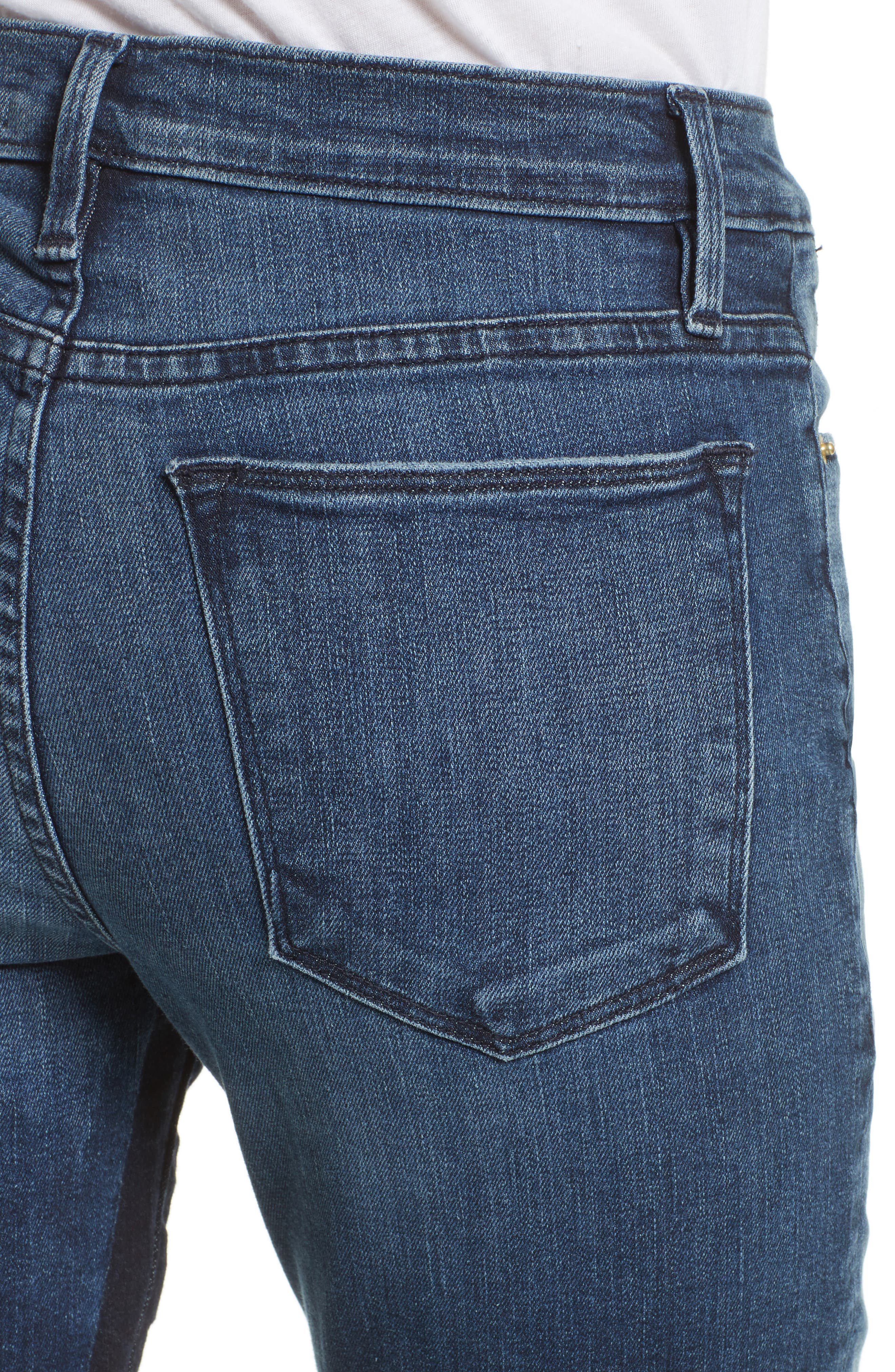 Alternate Image 5  - FRAME Le High Ankle Straight Leg Jeans (Elaine)