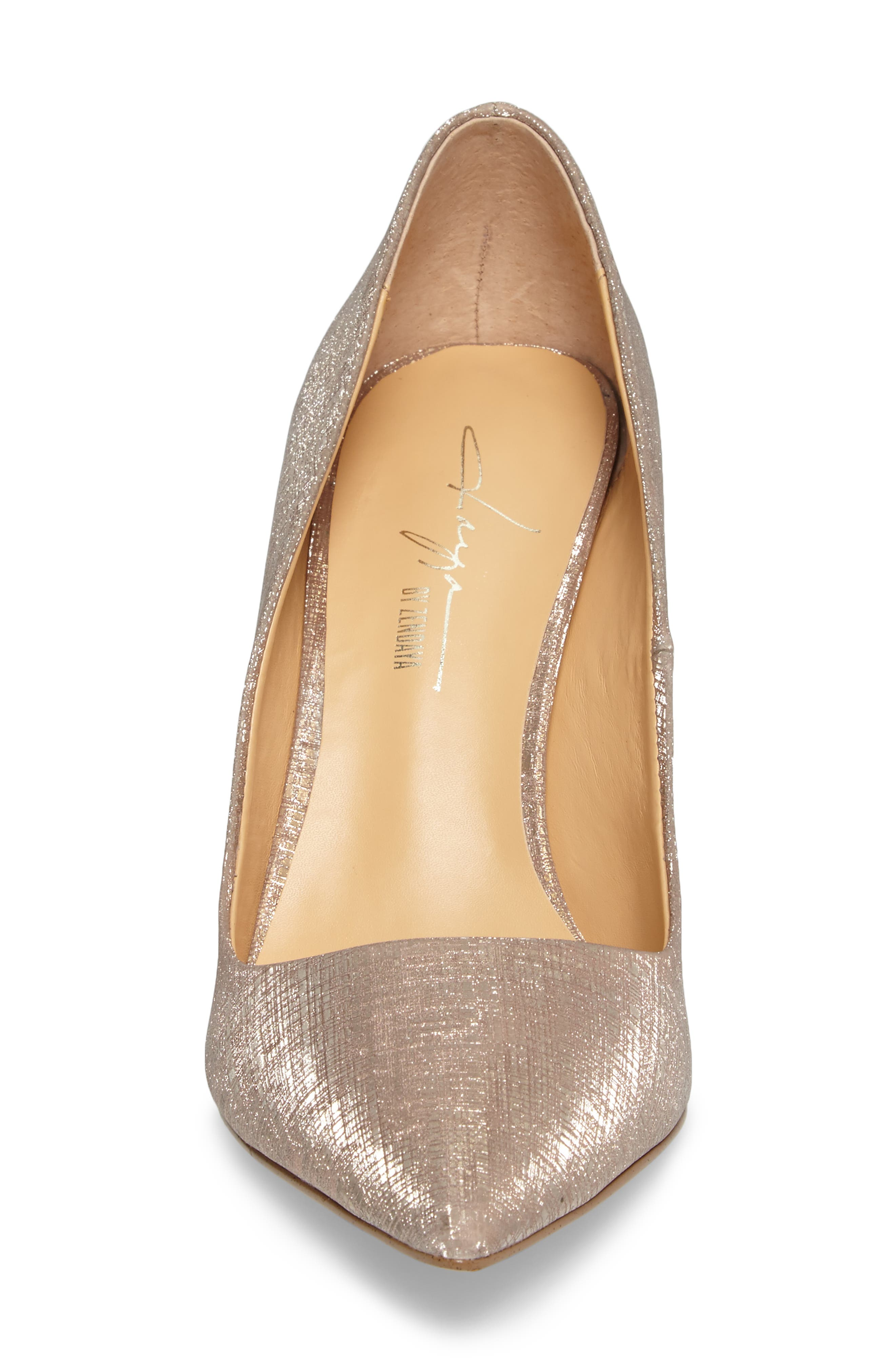 by Zendaya Nycole Metallic Pump,                             Alternate thumbnail 4, color,                             Gold