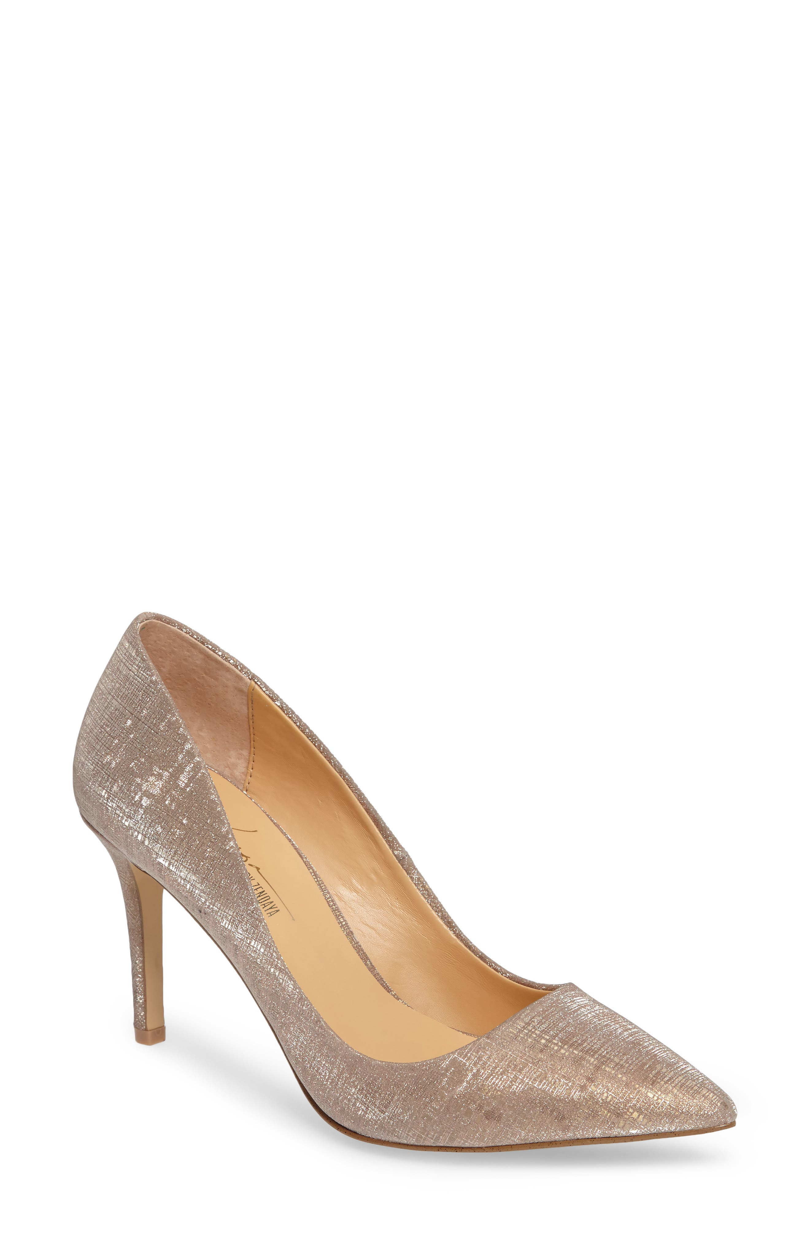 by Zendaya Nycole Metallic Pump,                         Main,                         color, Gold