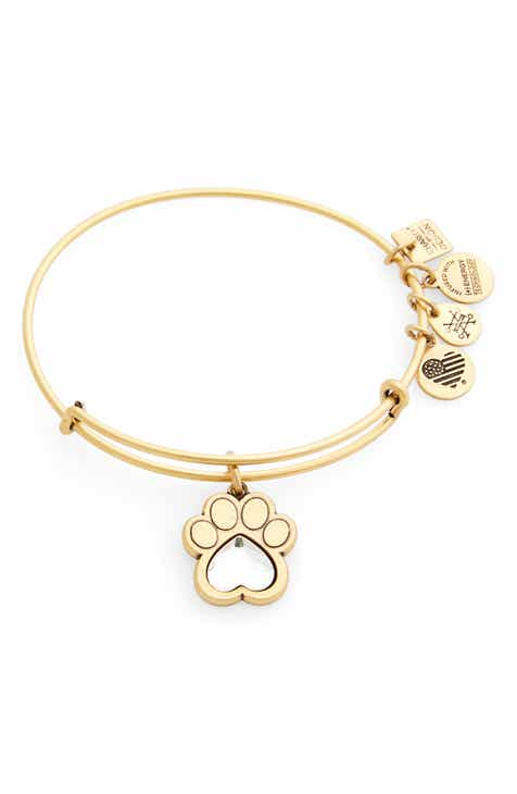 Alex And Ani Prints Of Love Adjule Wire Bangle