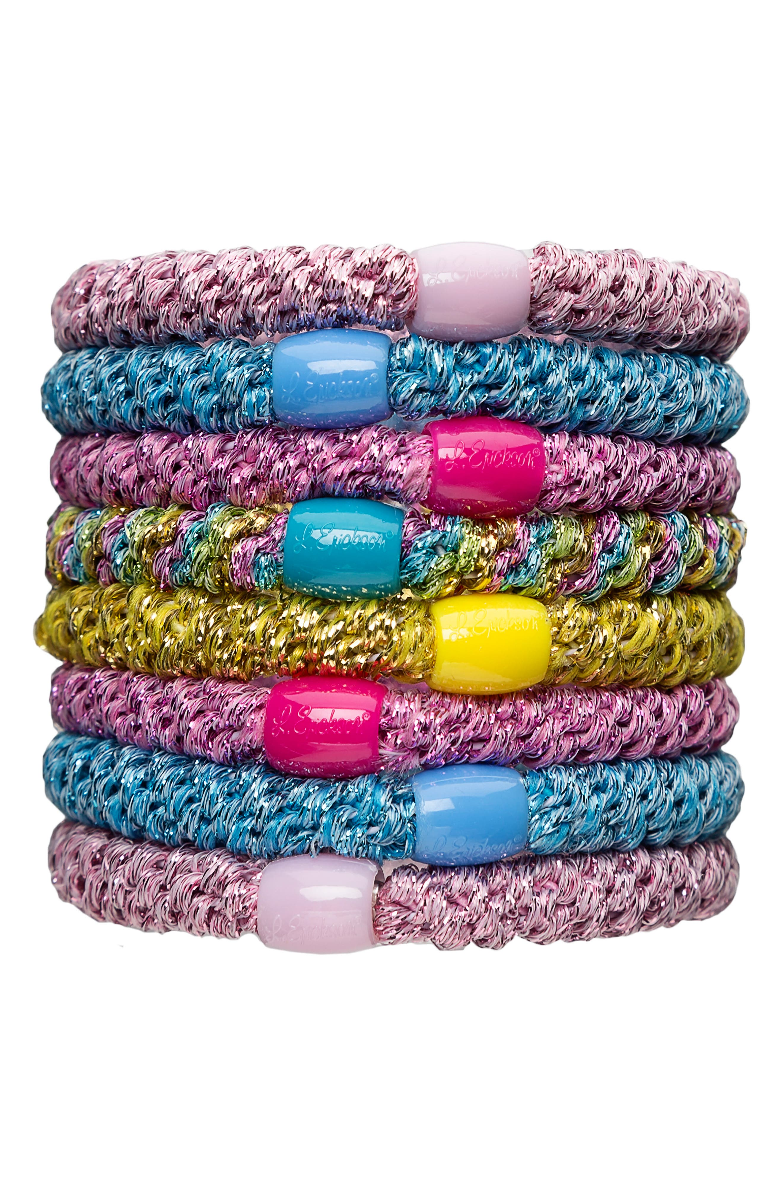 L. Erickson Ponytail Holders (Set of 8)