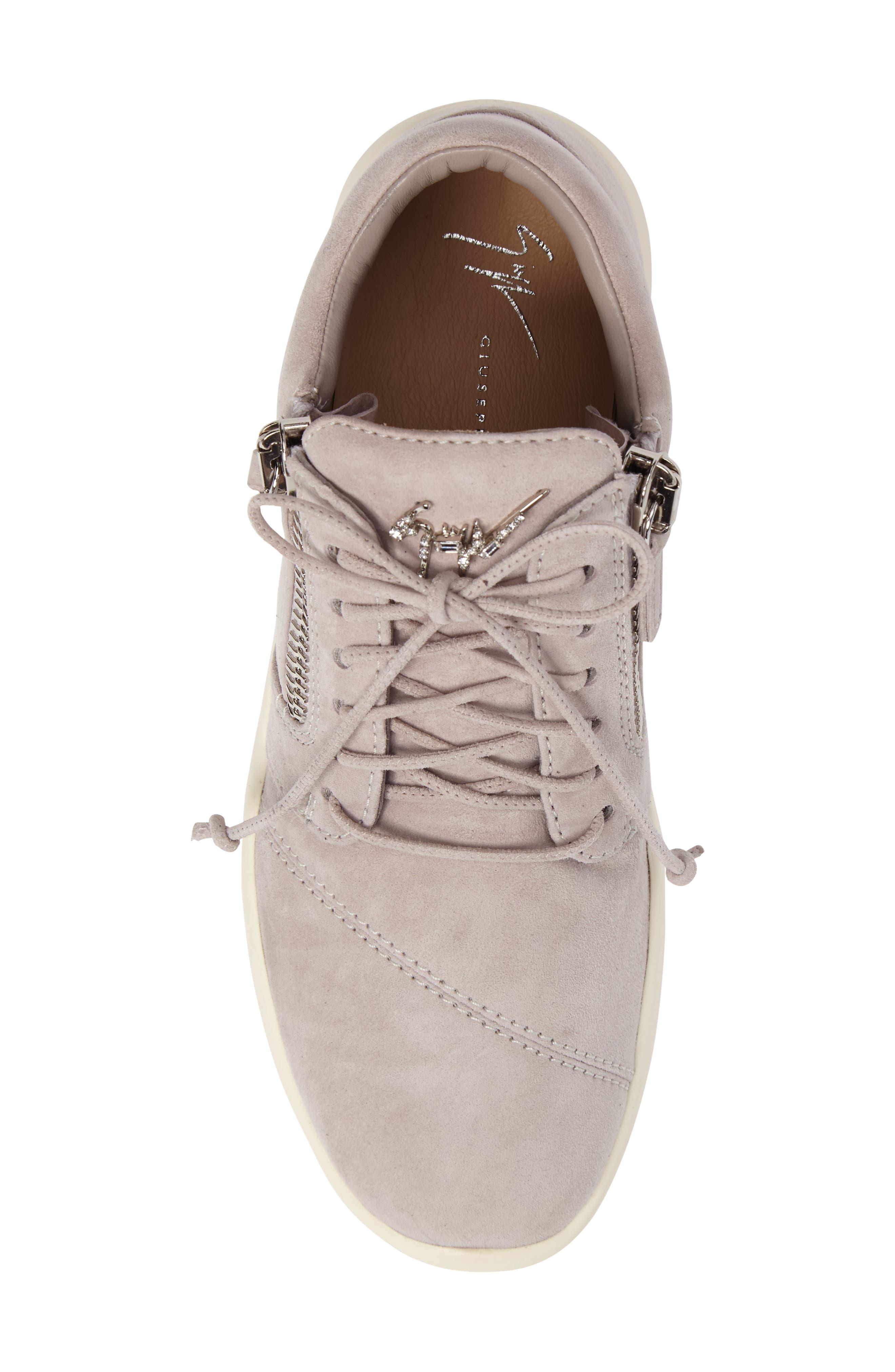 Zip Mid-Top Sneaker,                             Alternate thumbnail 5, color,                             Grey
