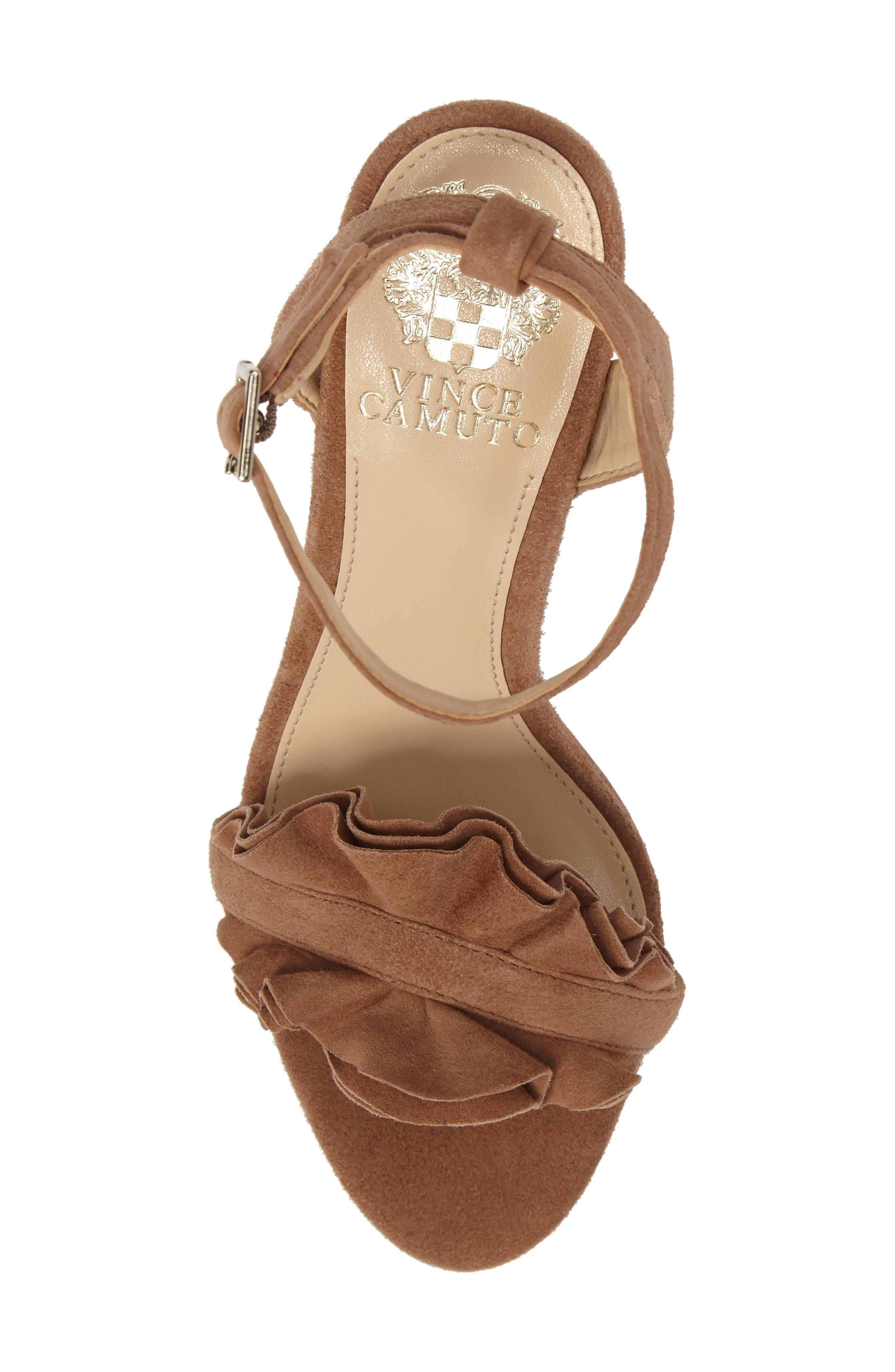 Vinta Sandal,                             Alternate thumbnail 6, color,                             Amendoa Suede