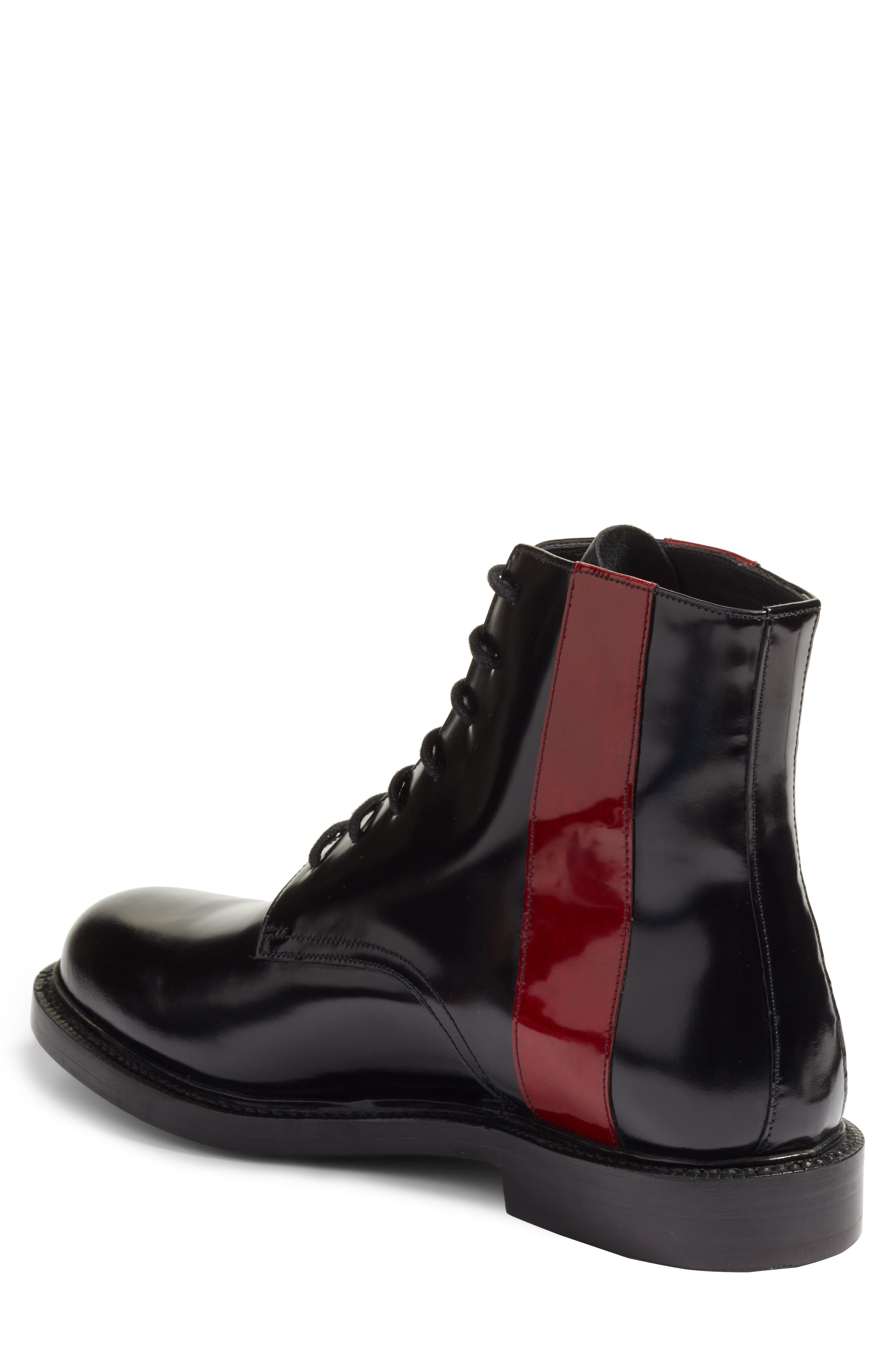 Hova Boot,                             Alternate thumbnail 2, color,                             Black/ Red Leather