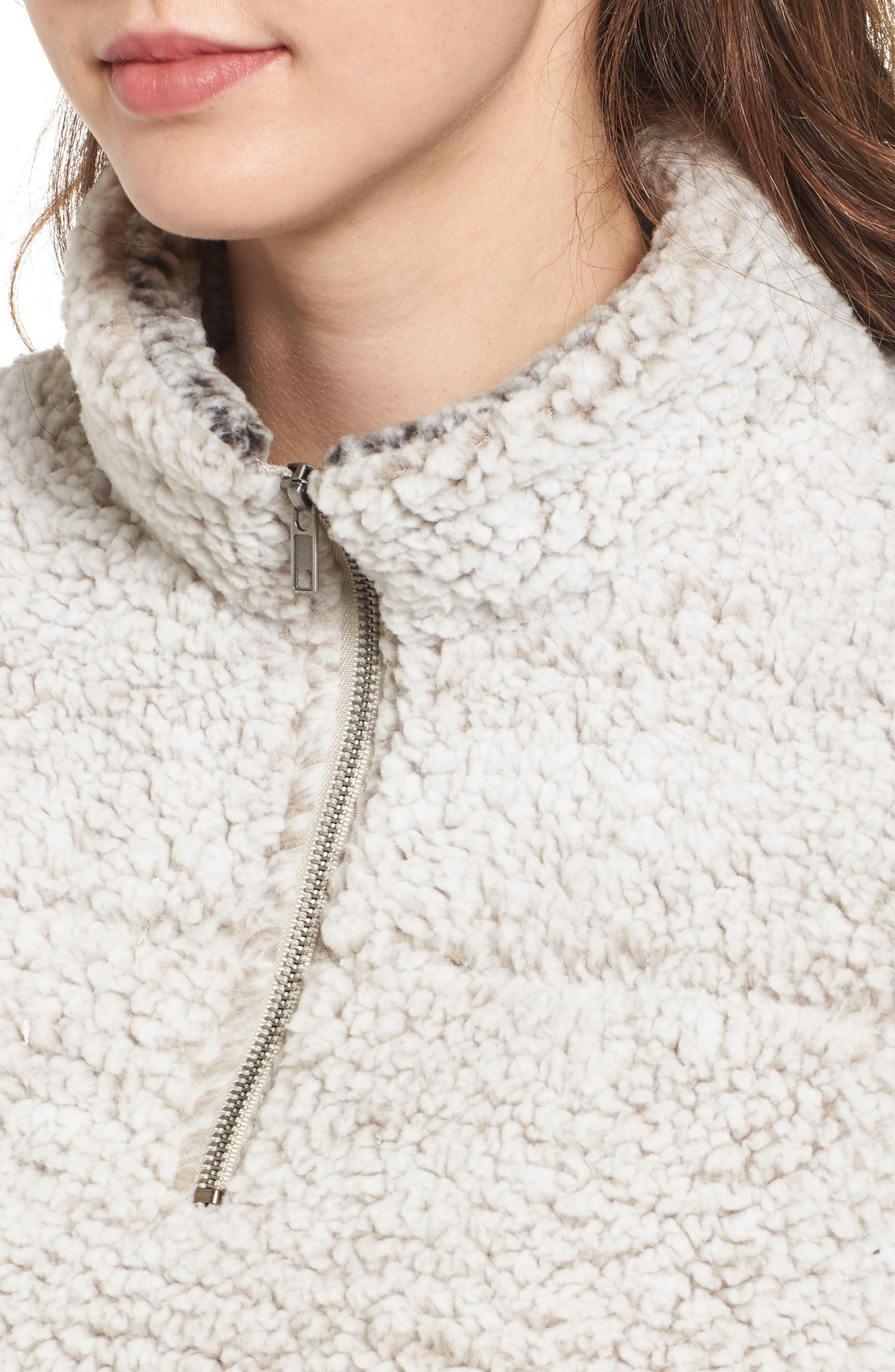 Wubby Fleece Pullover,                             Alternate thumbnail 4, color,                             Ivory